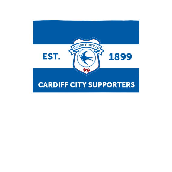 Cardiff City FC Supporters 3ft x 2ft Banner