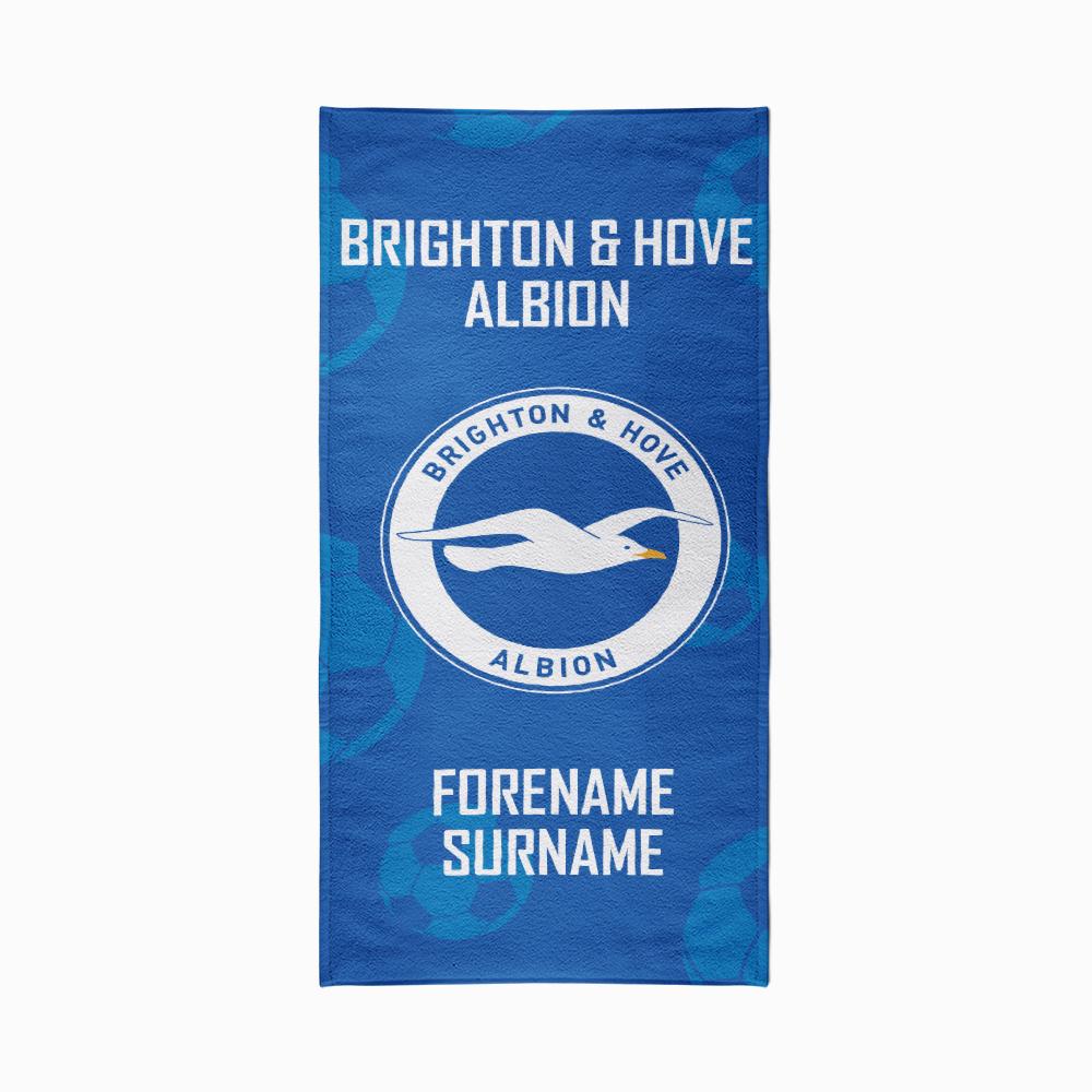 Brighton & Hove Albion FC Crest Design Towel - 80cm x 160cm