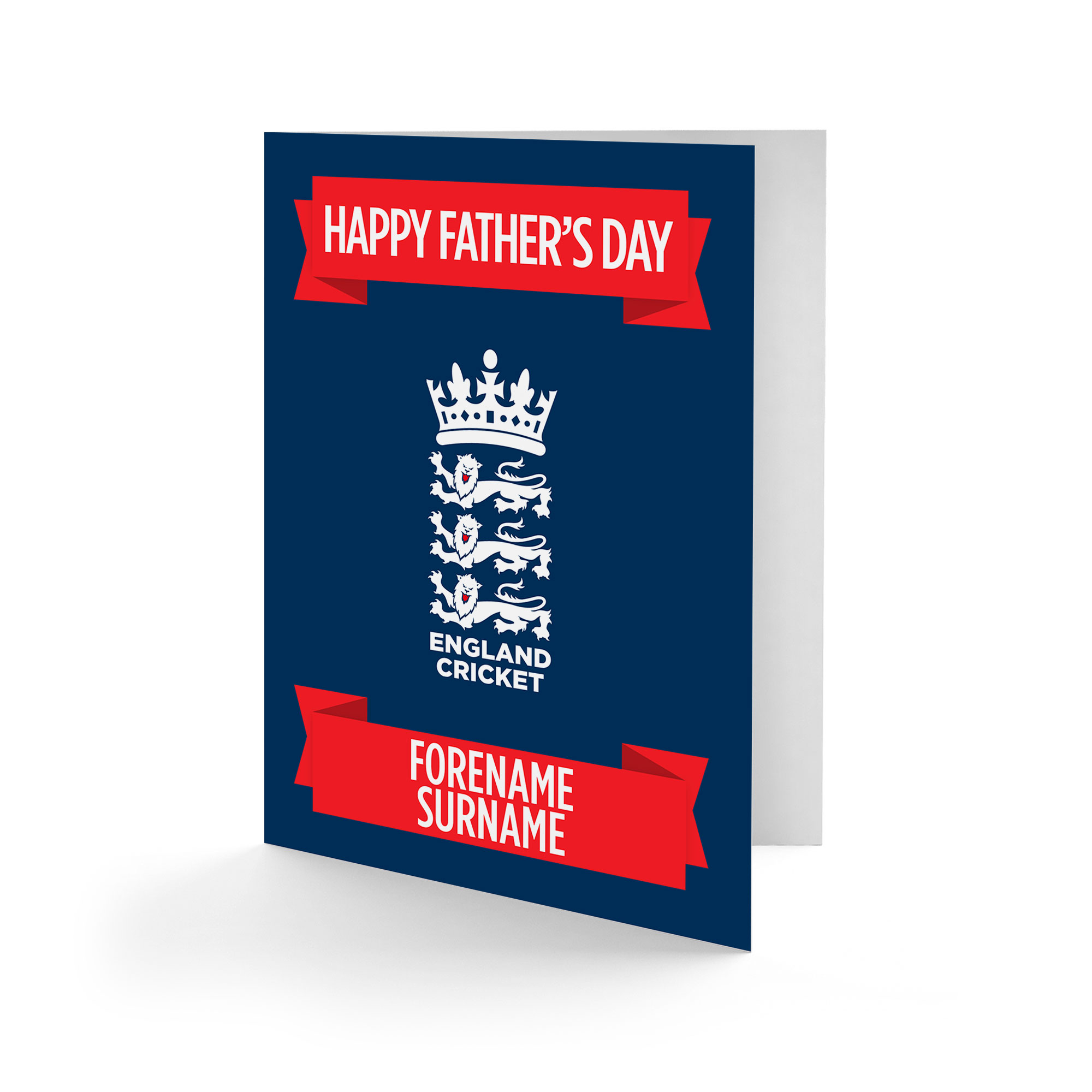 England Cricket Crest Father's Day Card