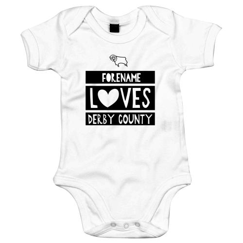 Derby County Loves Baby Bodysuit