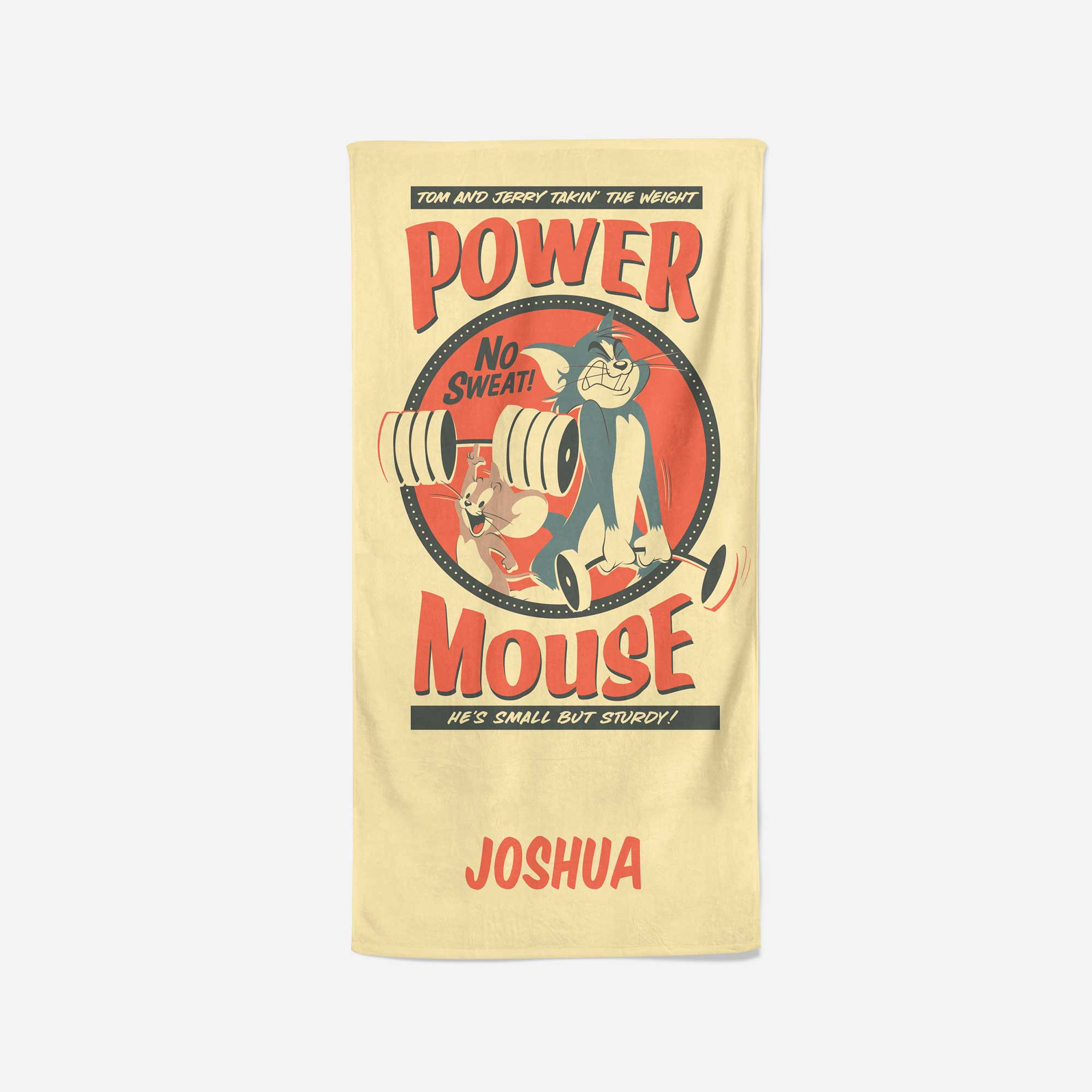 Tom and Jerry™ Personalised Towel - Power Mouse