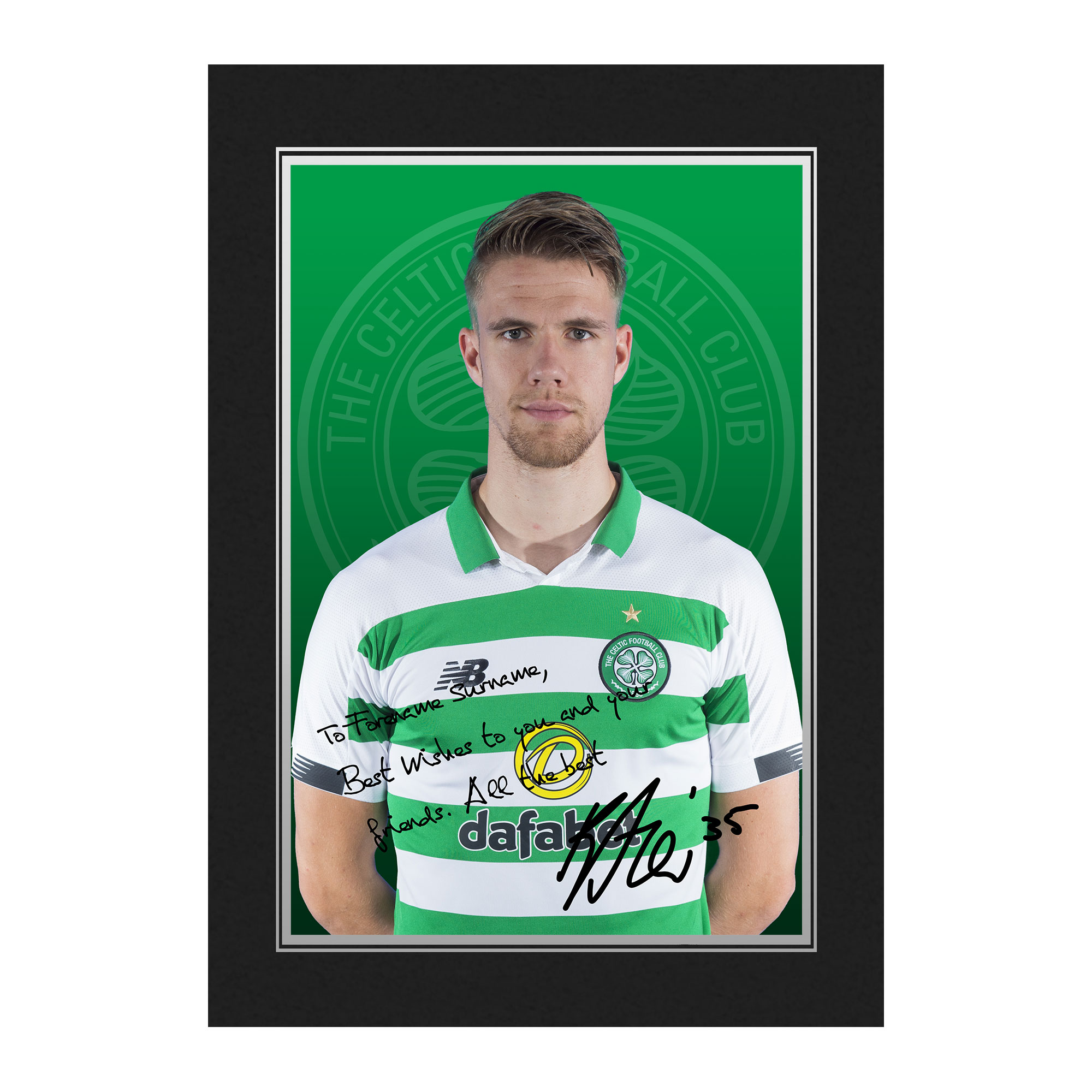 Celtic FC Ajer Autograph Photo Folder