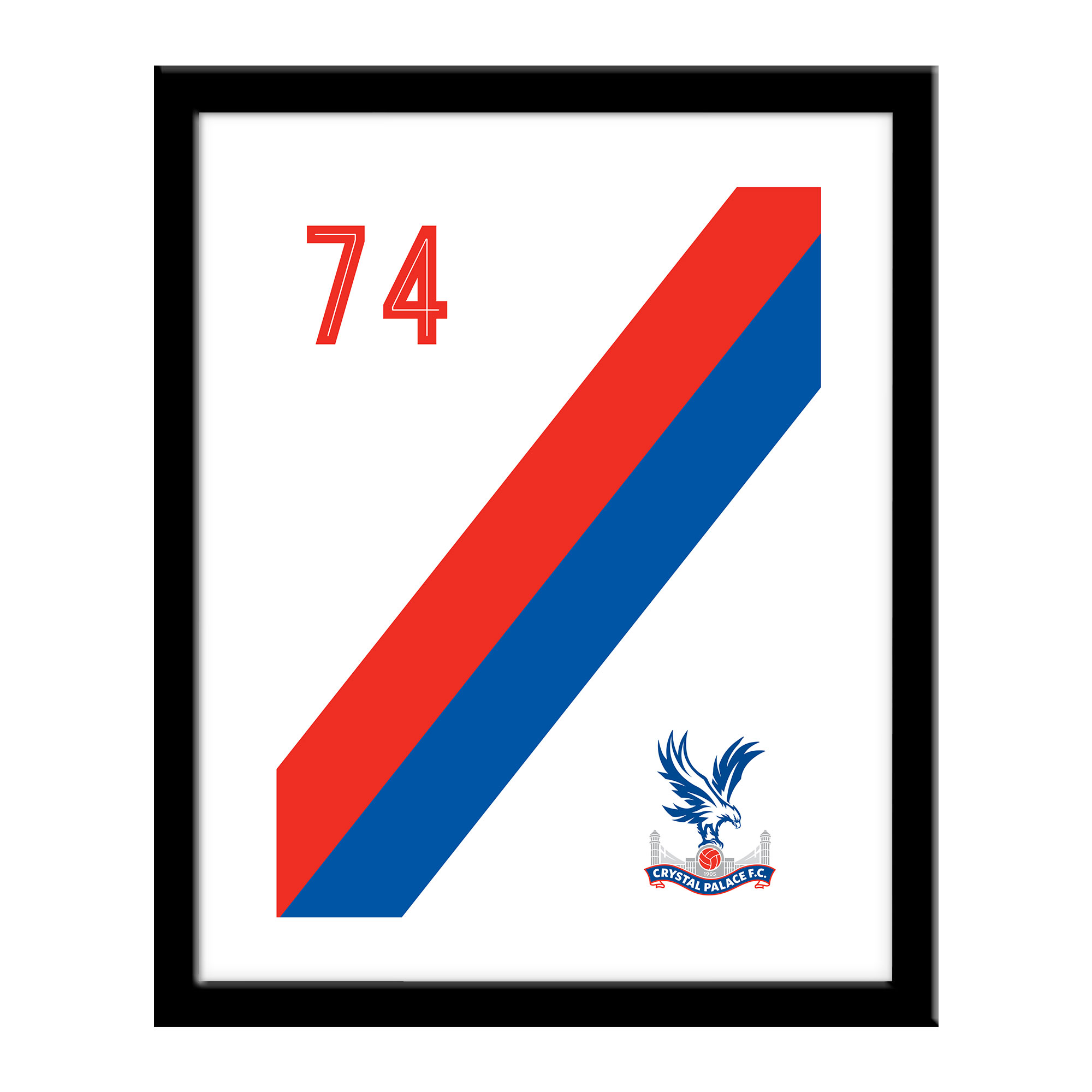 Crystal Palace FC Stripe Print