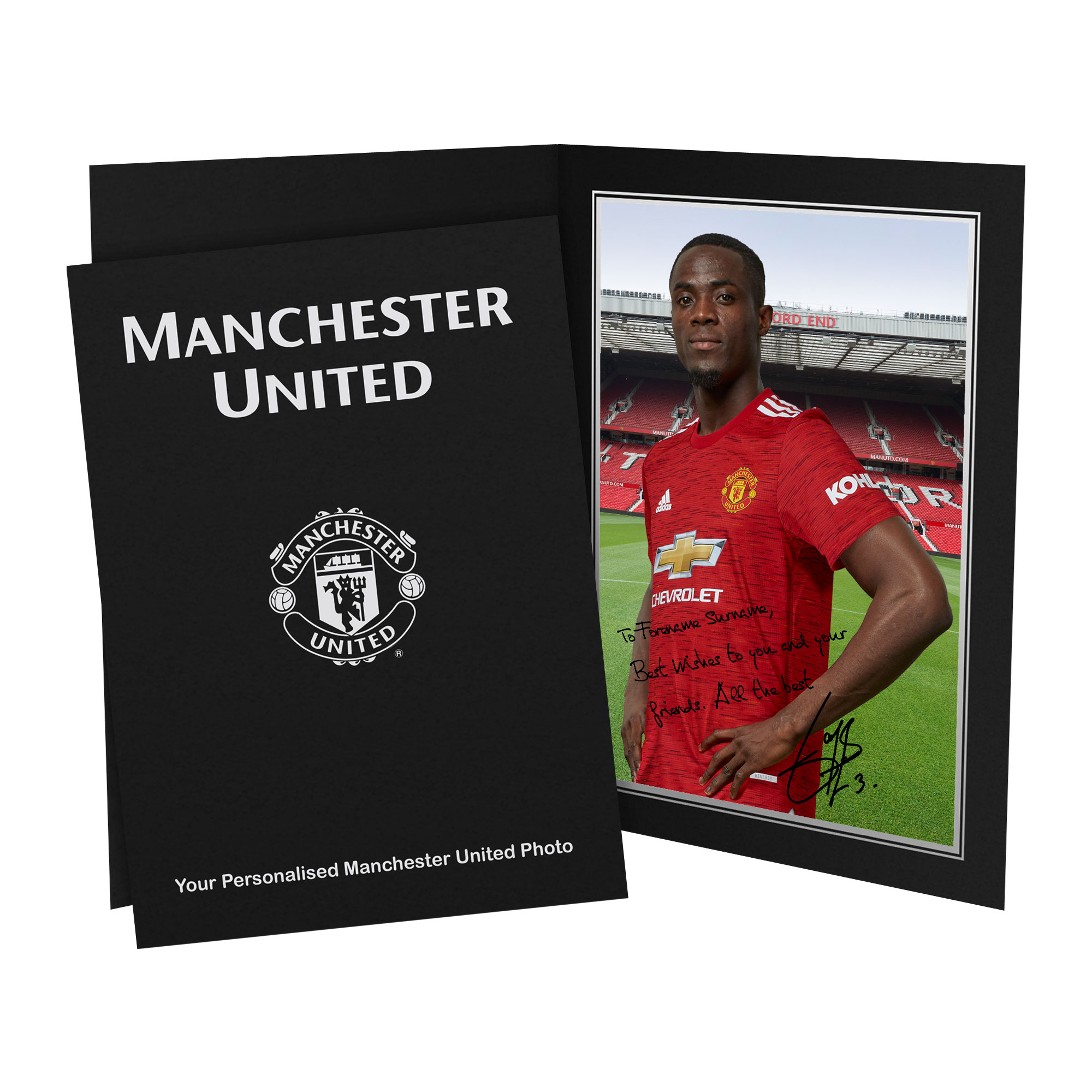Manchester United FC Bailly Autograph Photo Folder