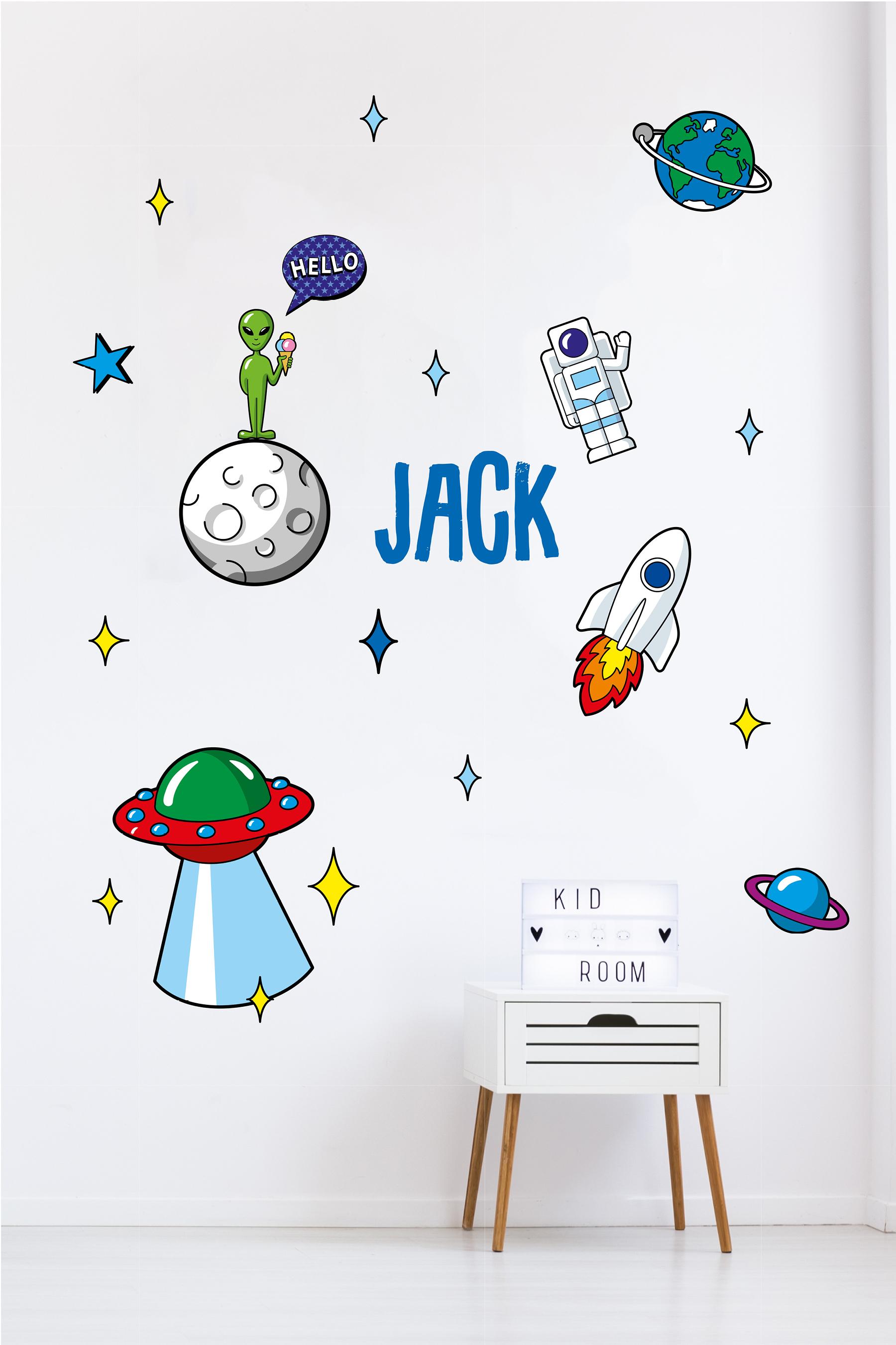 Rocket Sticker Set