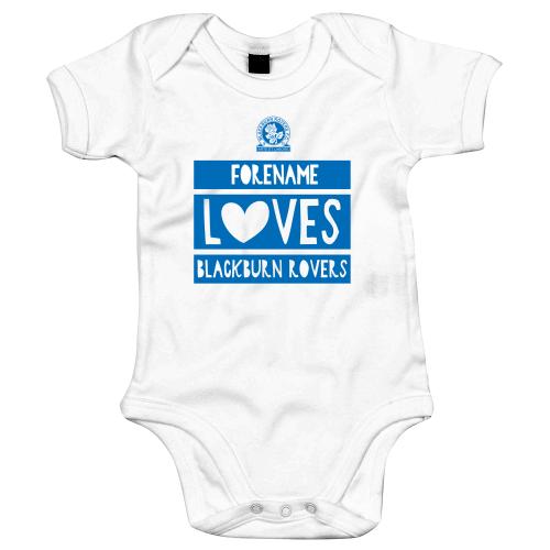 Blackburn Rovers FC Loves Baby Bodysuit