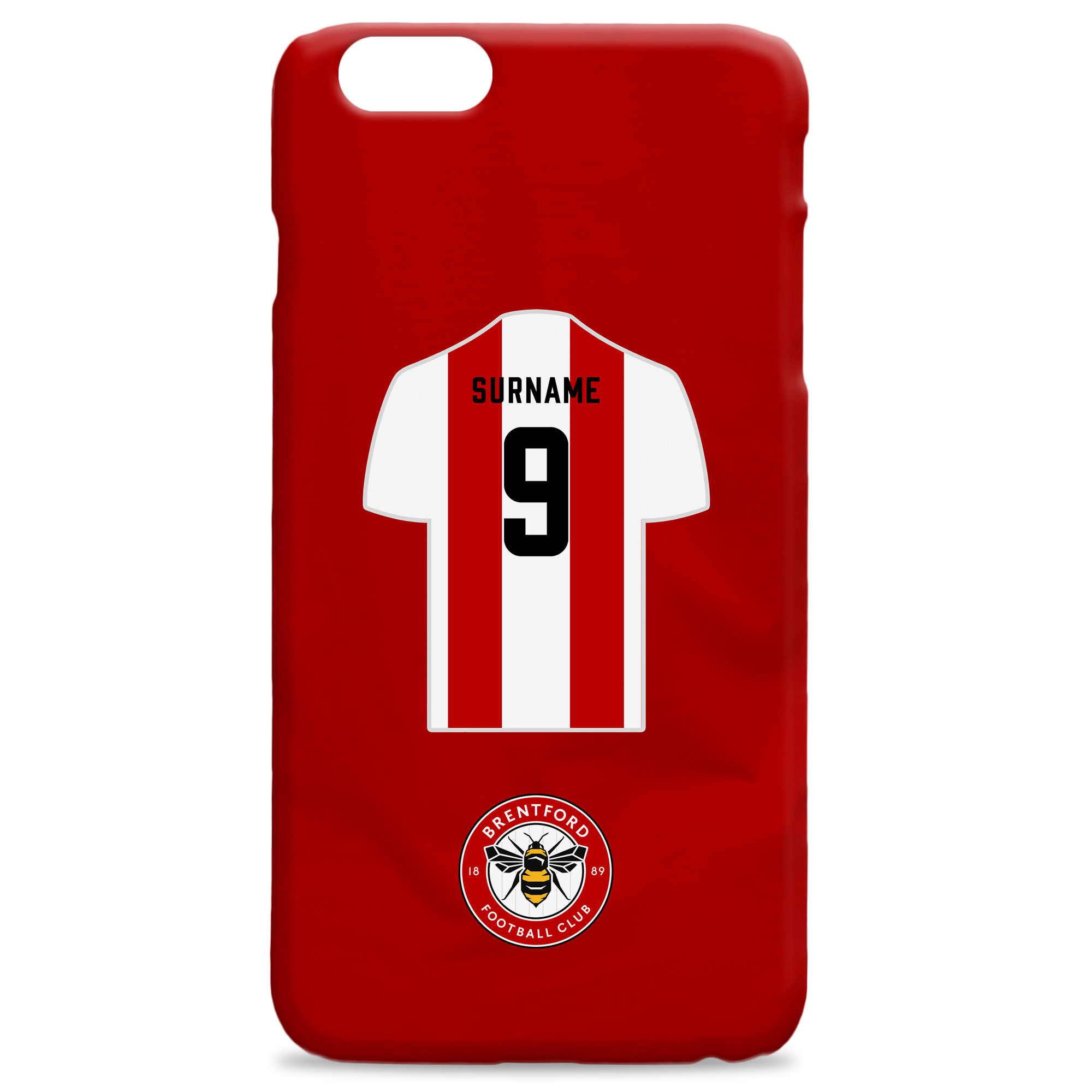 Brentford FC Shirt Hard Back Phone Case