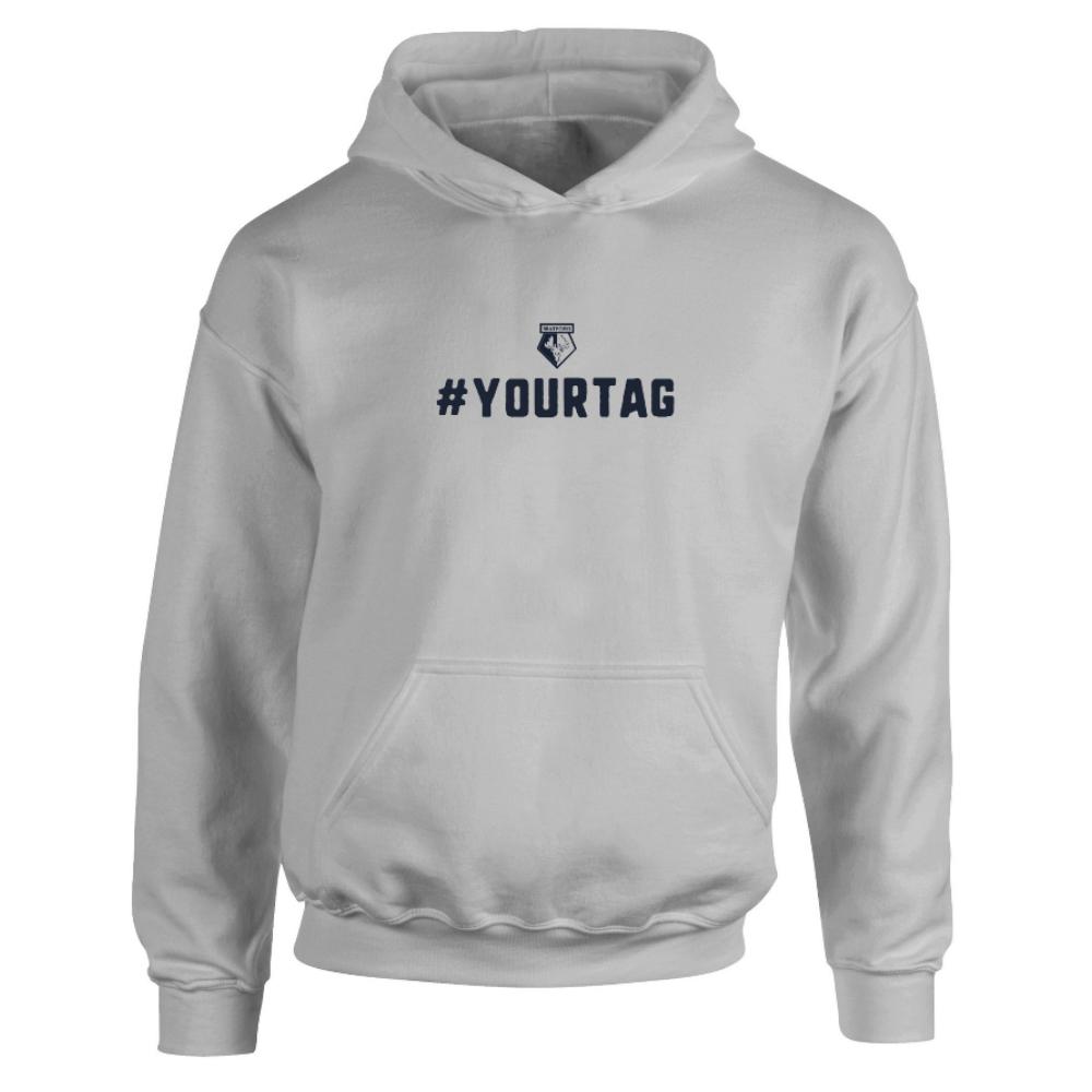 Watford FC Crest Hashtag Hoodie