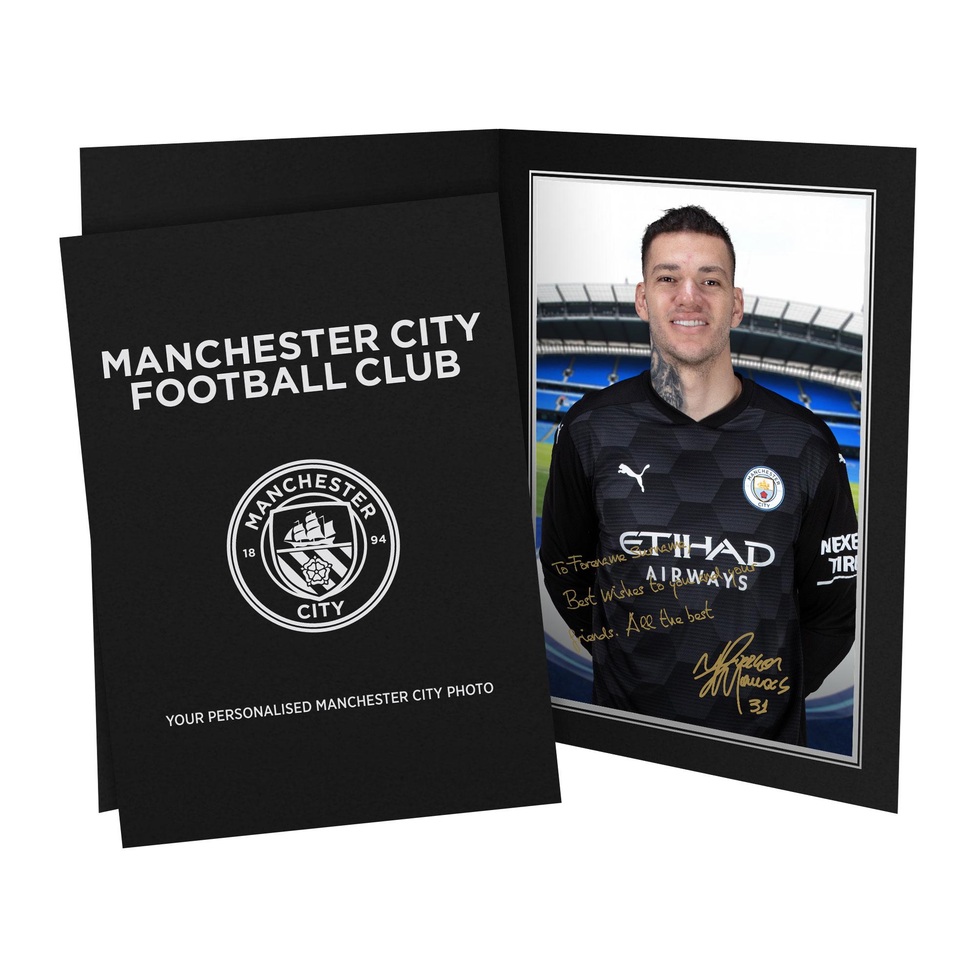 Manchester City FC Ederson Autograph Photo Folder