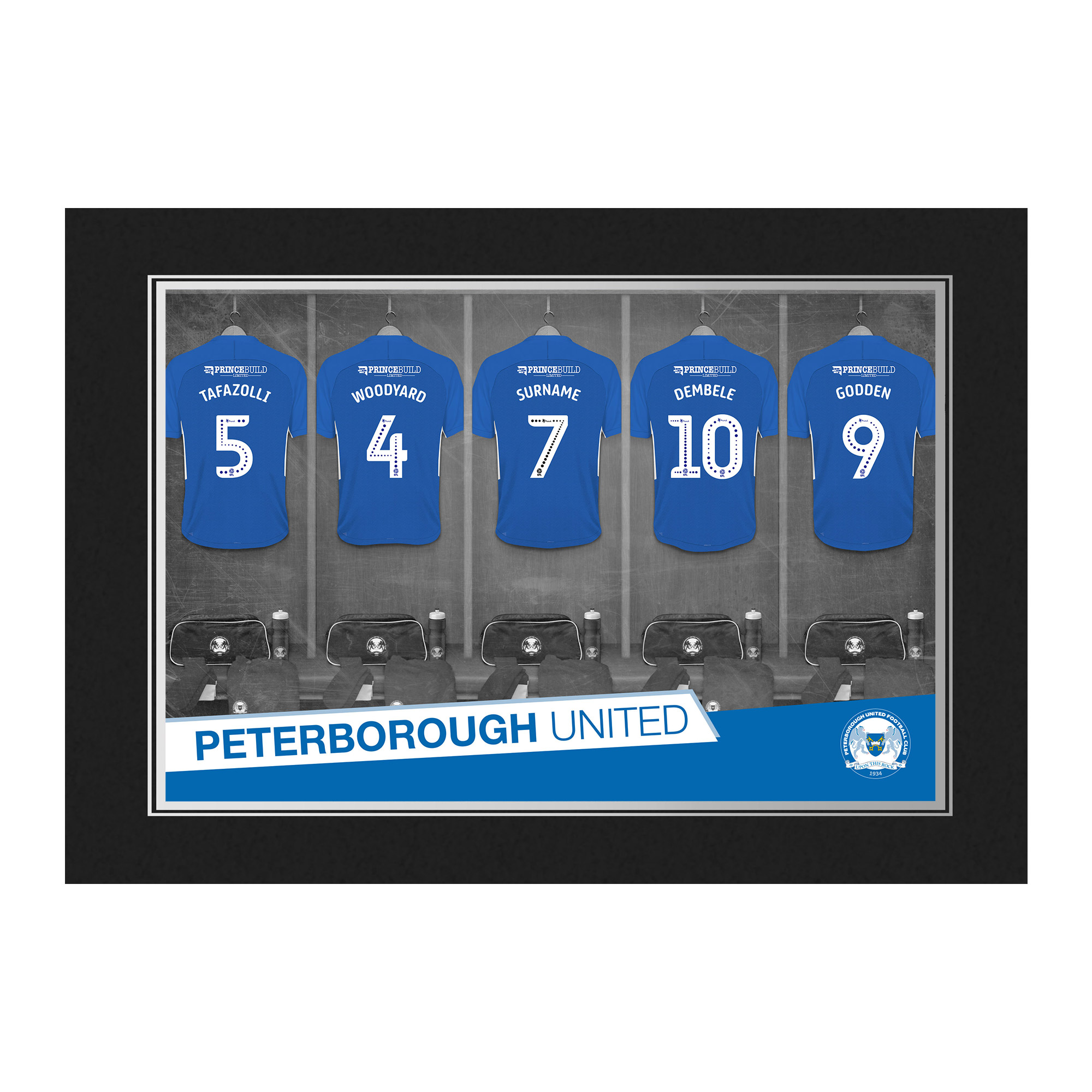 Peterborough United FC 9x6 Dressing Room Photo Folder