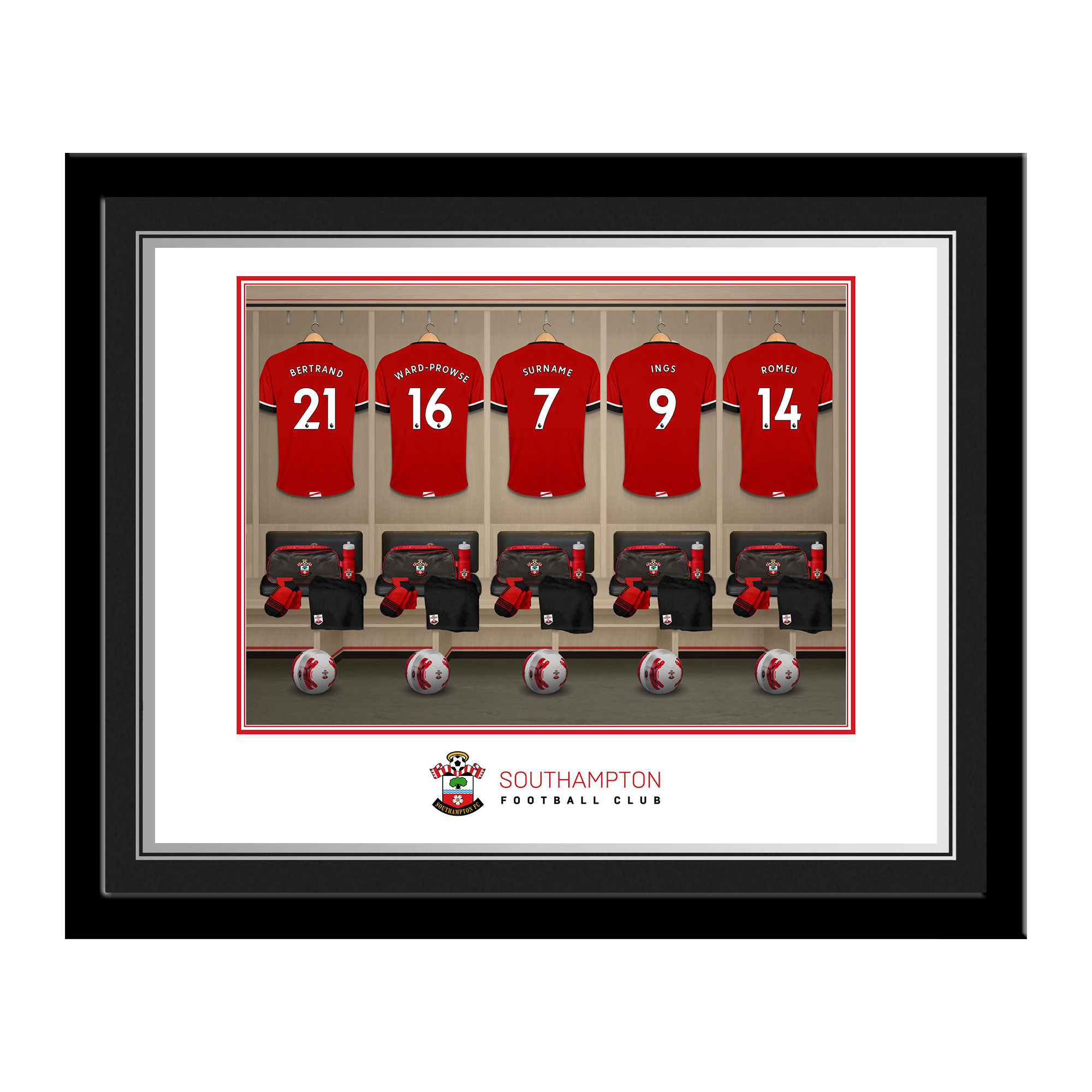 Southampton FC Dressing Room Photo Framed