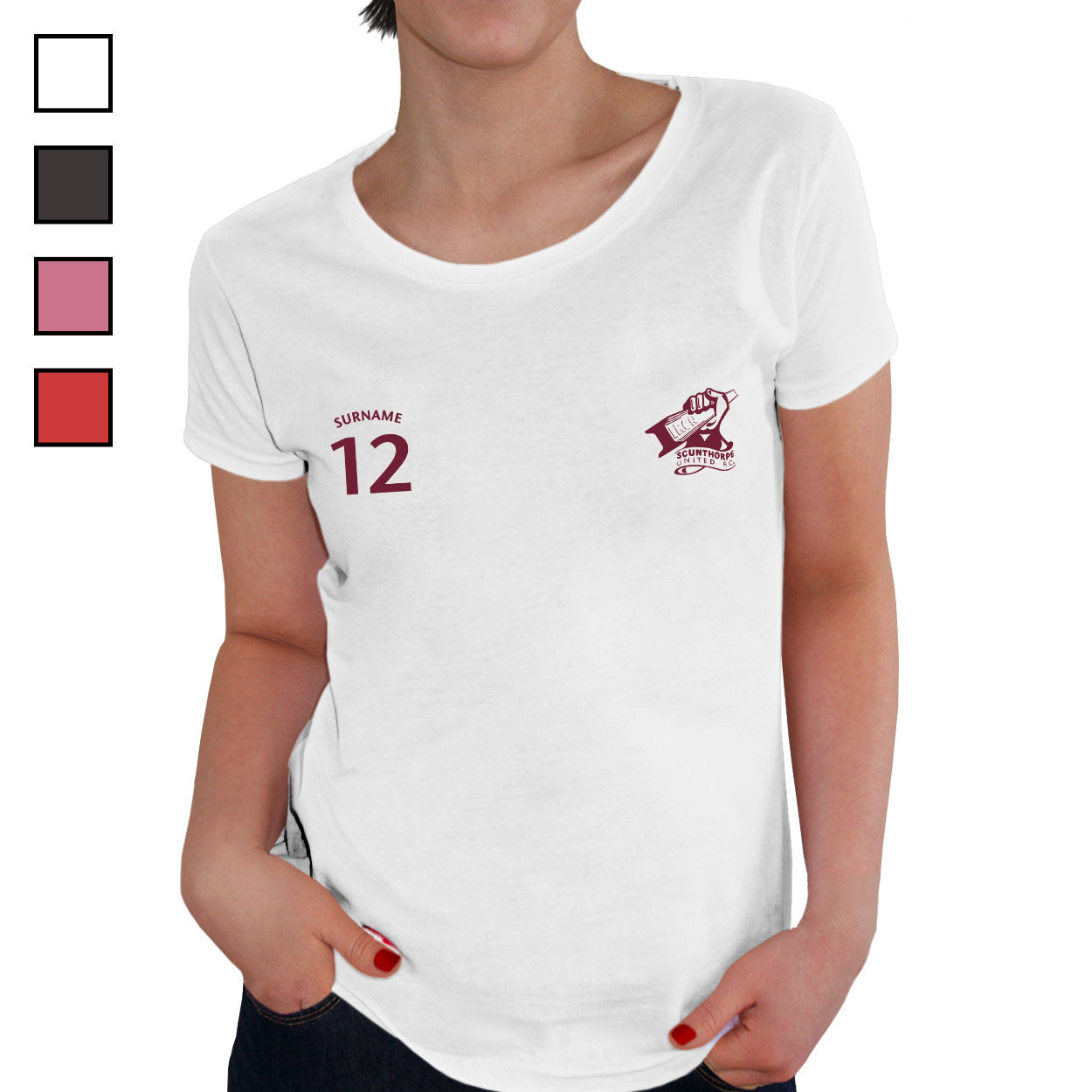 Scunthorpe United FC Ladies Sports T-Shirt