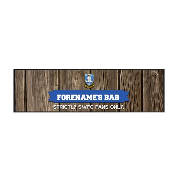 Sheffield Wednesday FC Wood Name Large Bar Runner