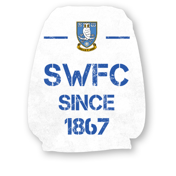 Sheffield Wednesday FC Paint Splash Headrest Cover