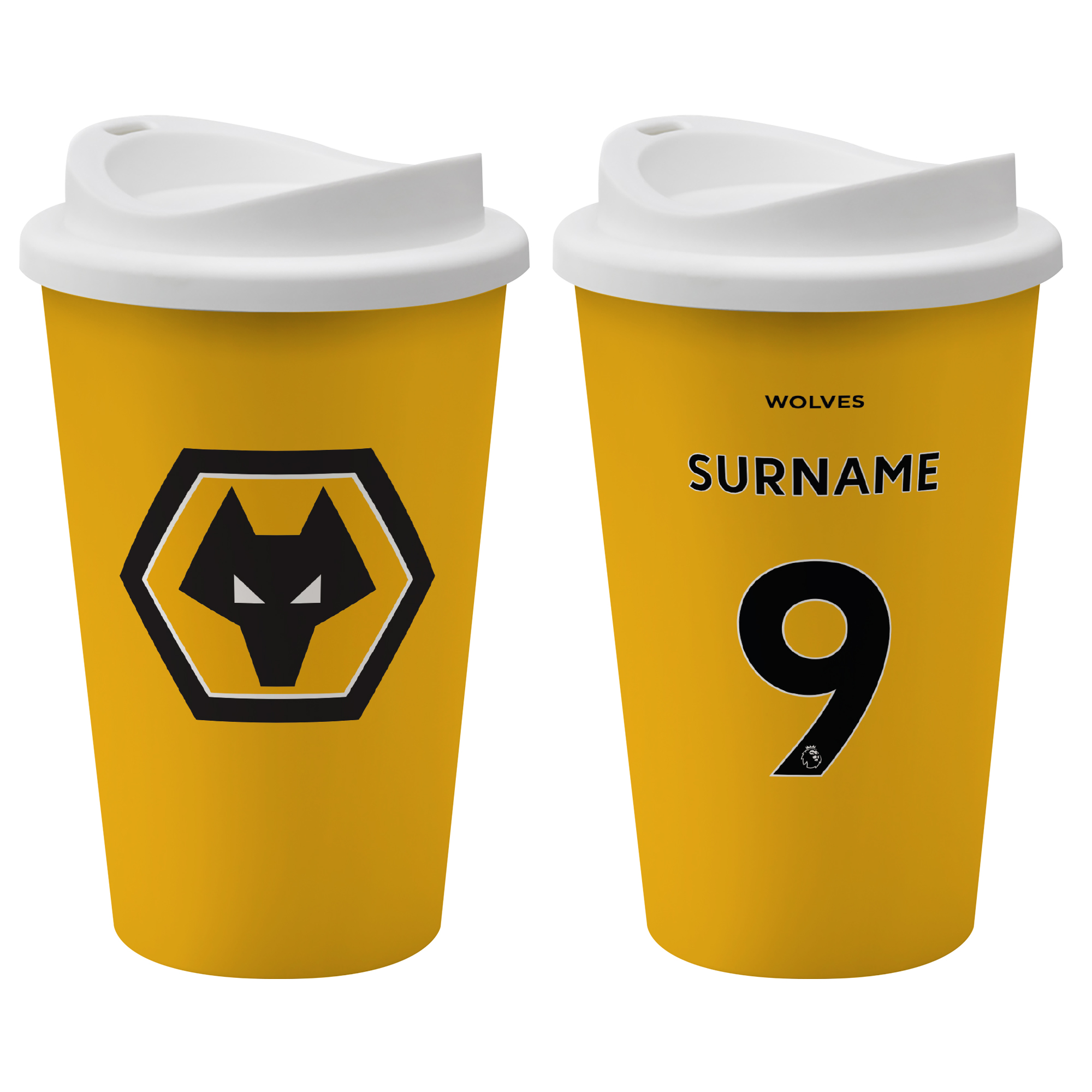Wolves Back of Shirt Reusable Cup