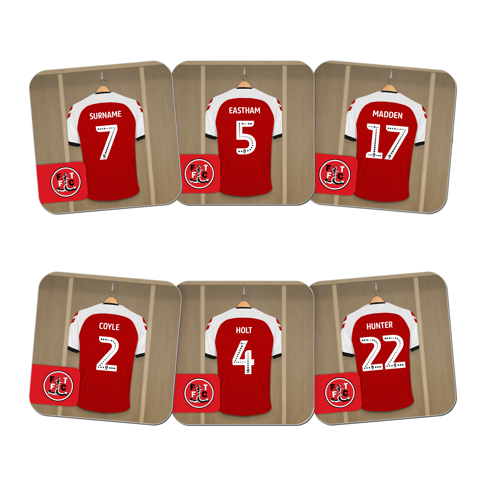 Fleetwood Town FC Dressing Room Coasters