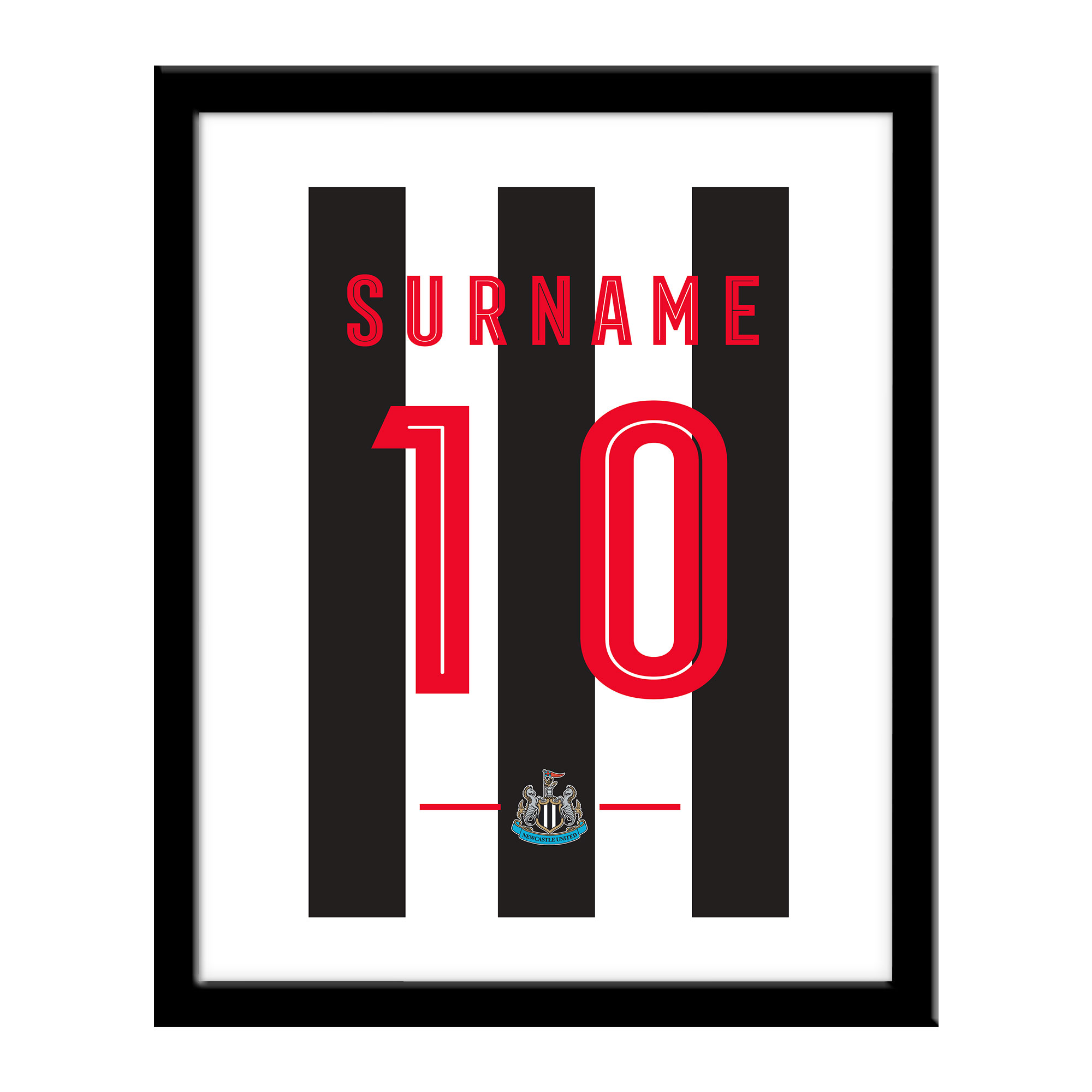 Newcastle United FC Retro Shirt Print