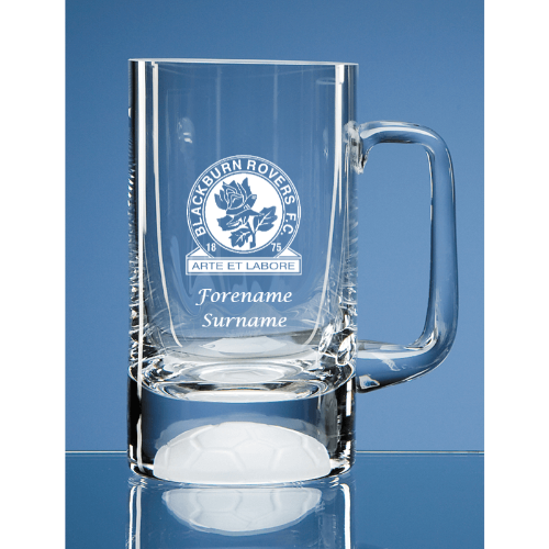 Blackburn Rovers FC Crest Half Pint Ball Base Tankard