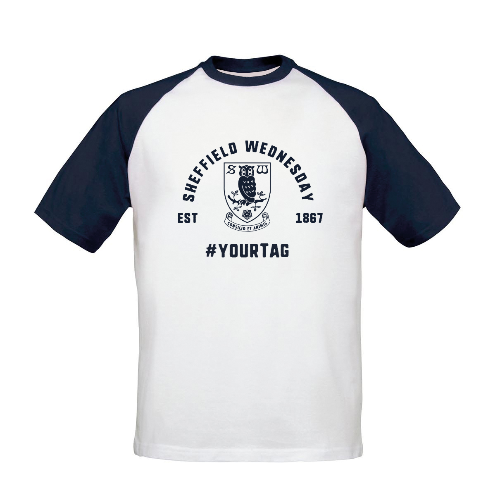 Sheffield Wednesday FC Vintage Hashtag Baseball T-Shirt