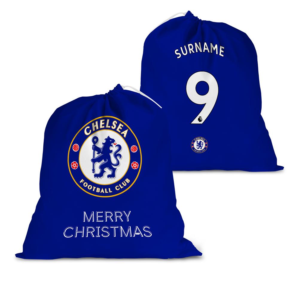 Chelsea FC Back of Shirt Santa Sack