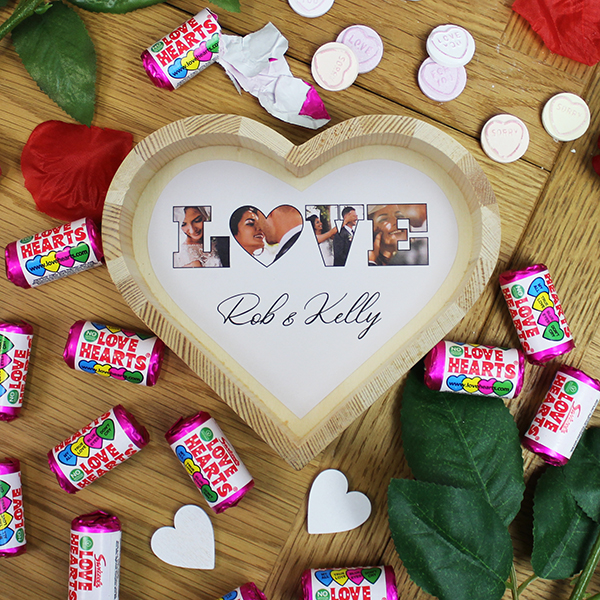 'LOVE' Photo Gift - Small Wooden Sweet Heart