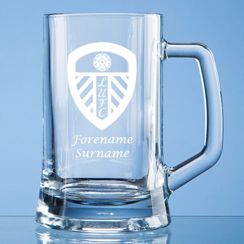 Leeds United FC Crest Small Plain Straight Sided Tankard