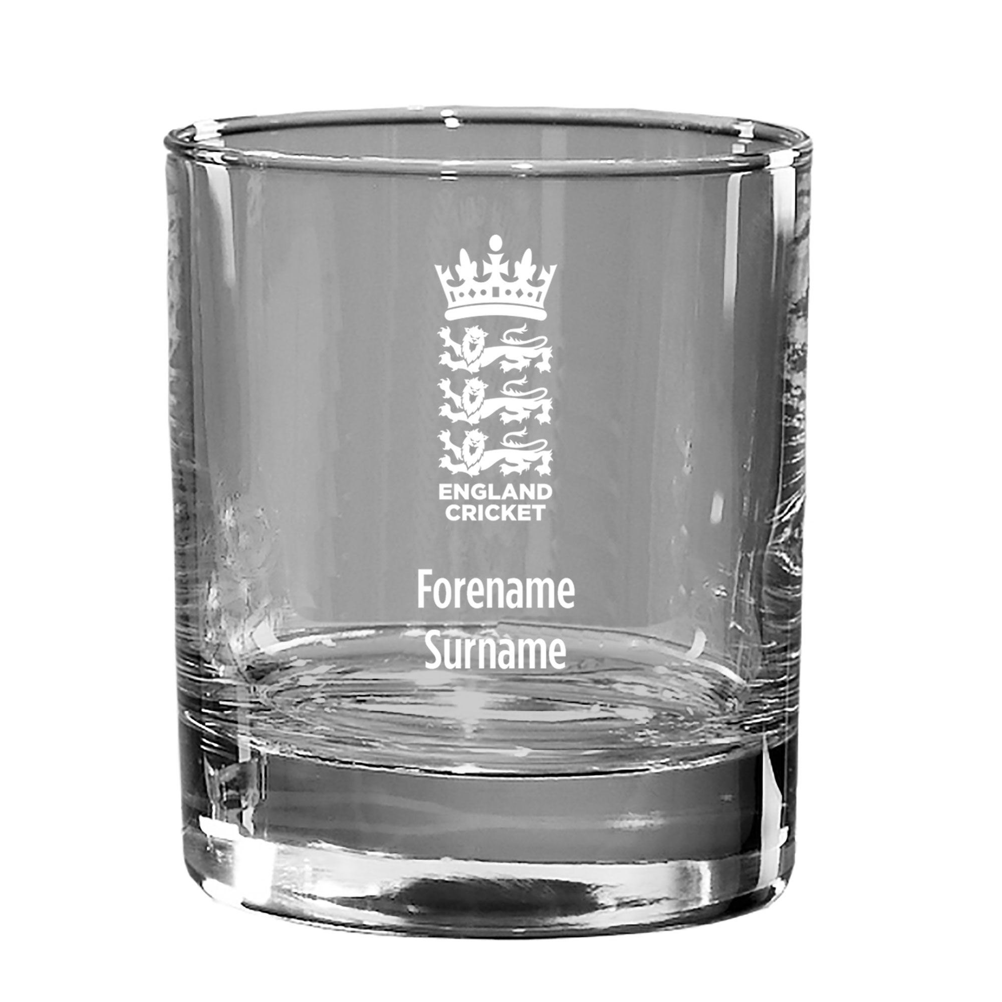 England Cricket Personalised Whisky Tumbler