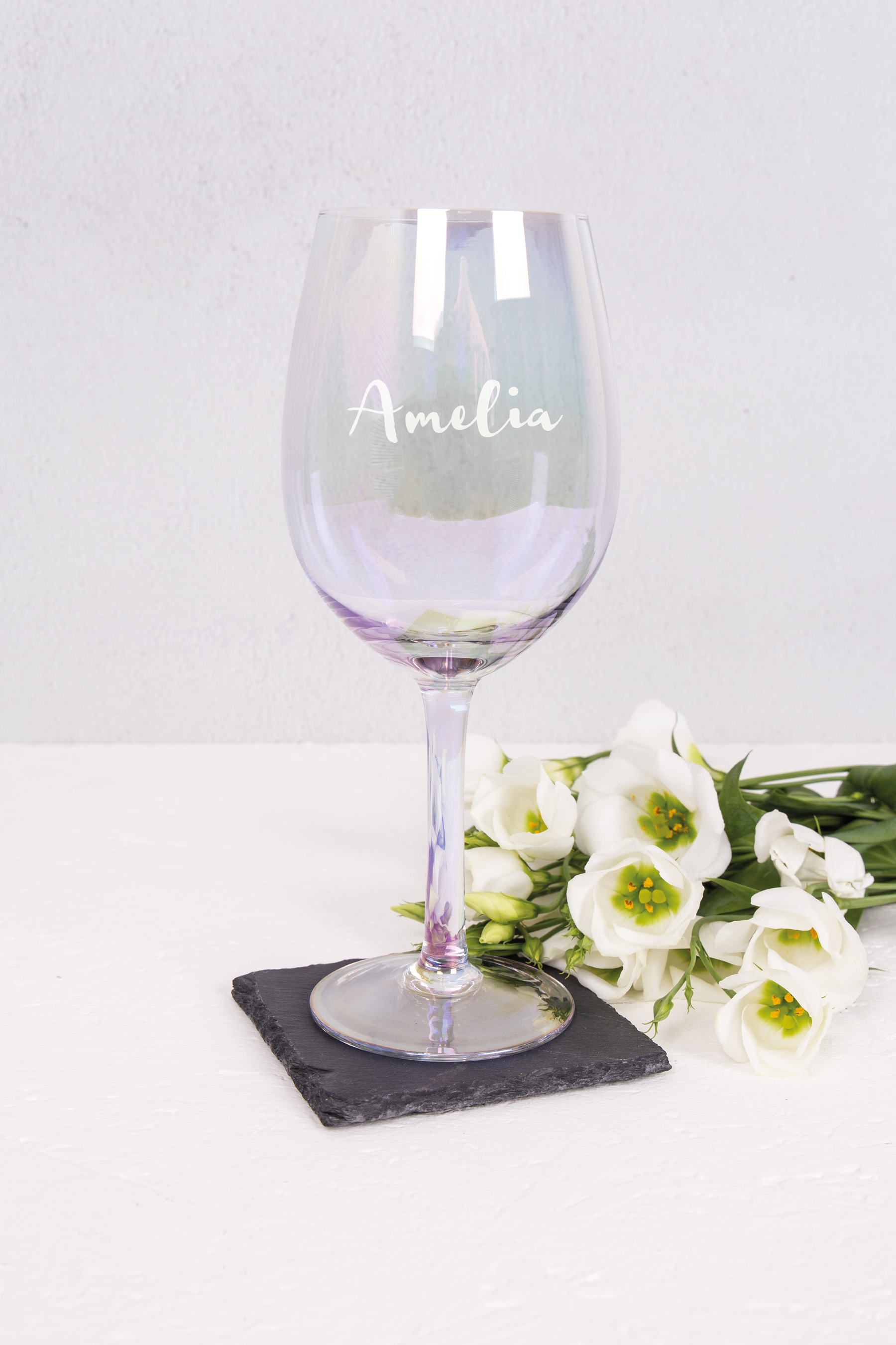 Iridescent Wine Glass - Mum