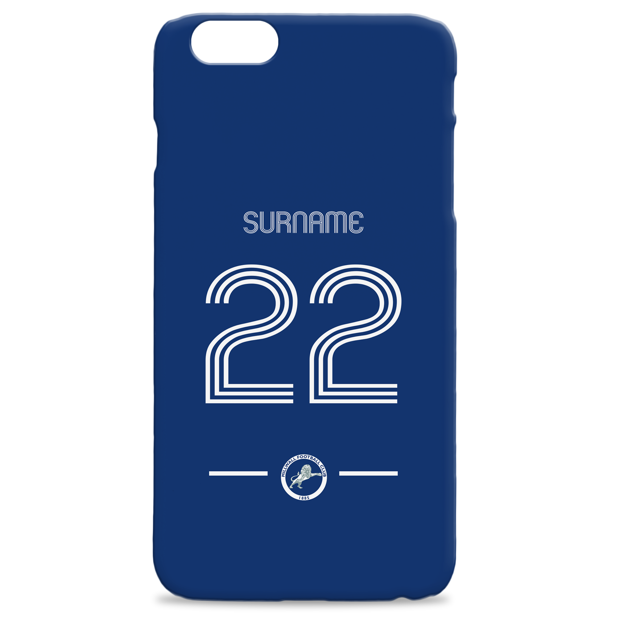 Millwall Retro Shirt Hard Back Phone Case