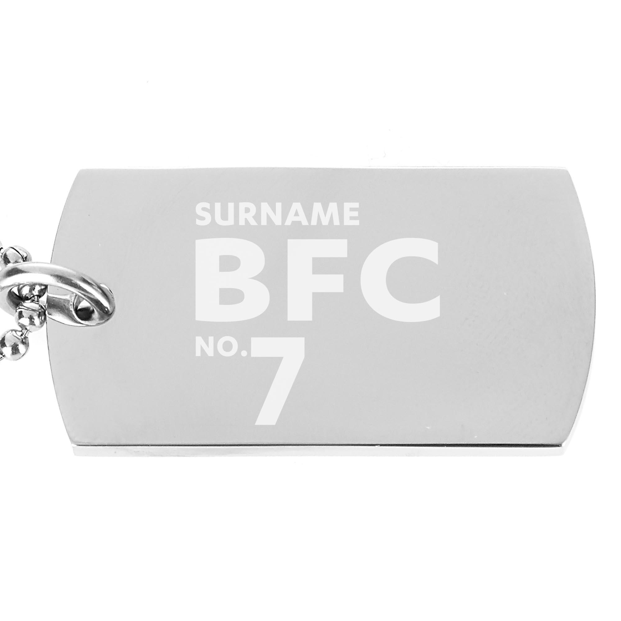 Burnley FC Number Dog Tag Pendant