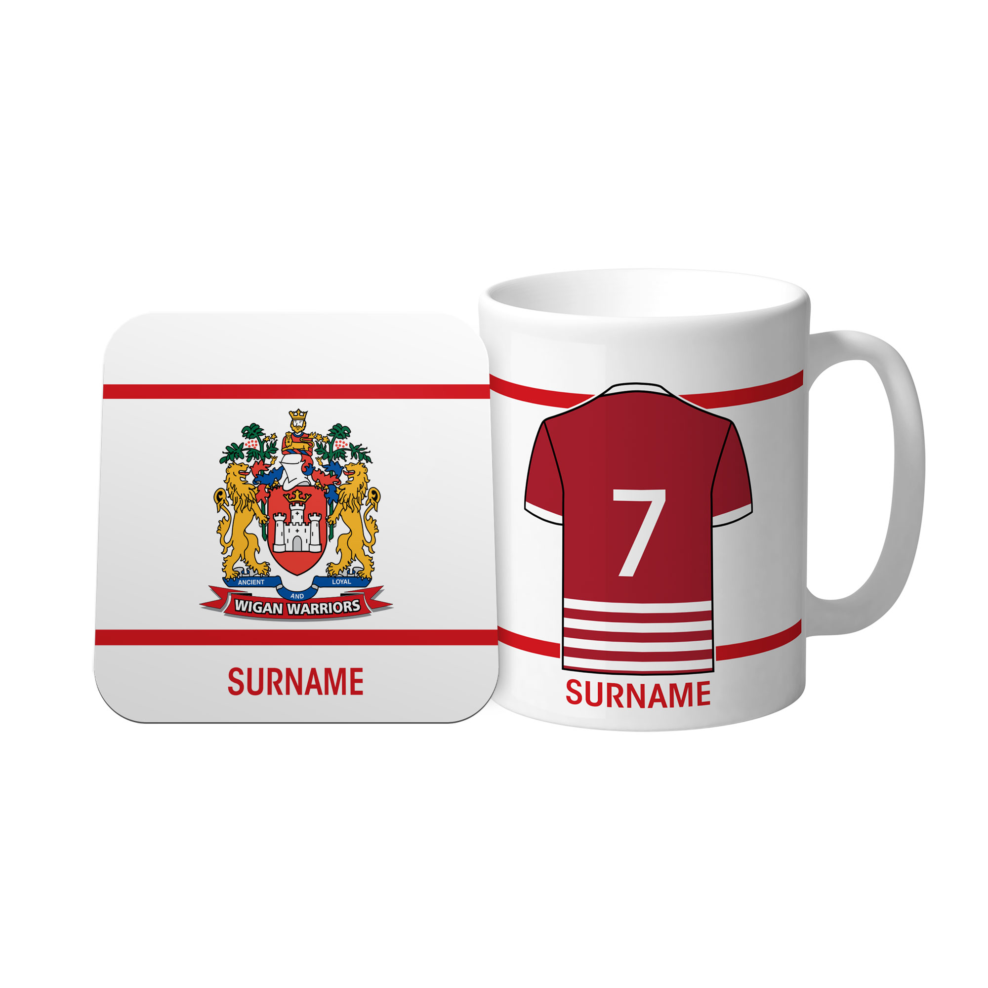 Wigan Warriors Shirt Mug & Coaster Set