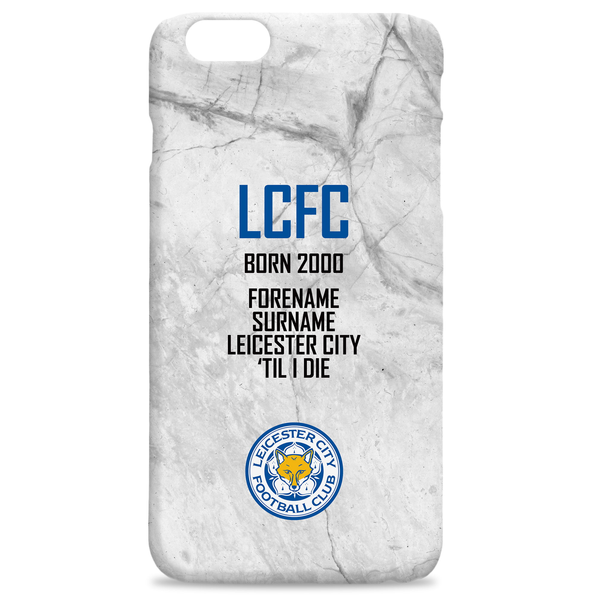 Leicester City FC 'Til I Die Hard Back Phone Case