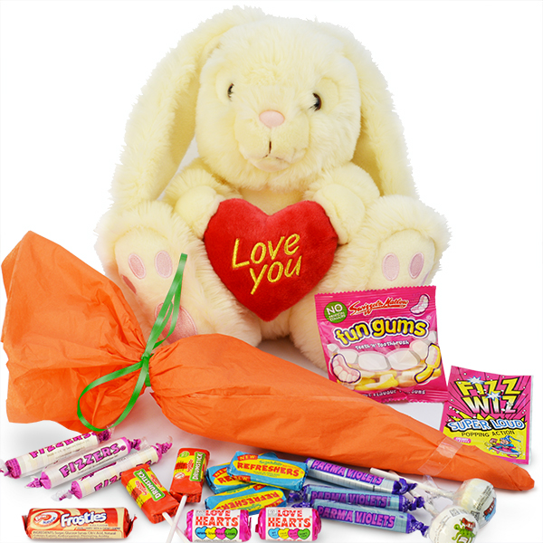 Love You Bunny with Sweet Bouquet