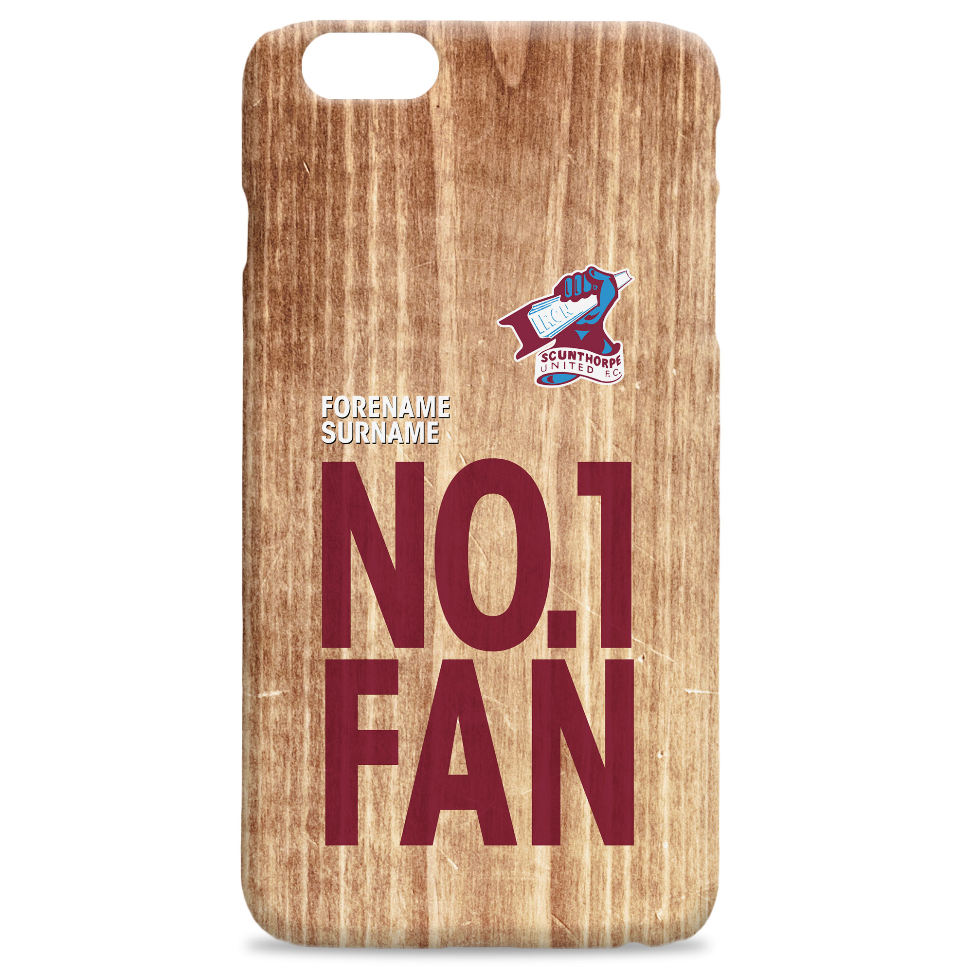 Scunthorpe United FC No 1 Fan Hard Back Phone Case
