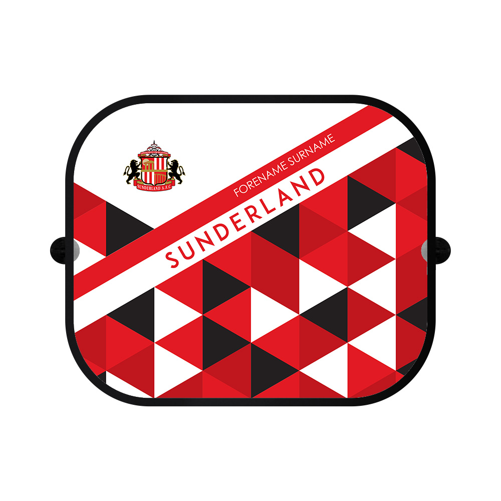 Sunderland AFC Patterned Car Sunshade