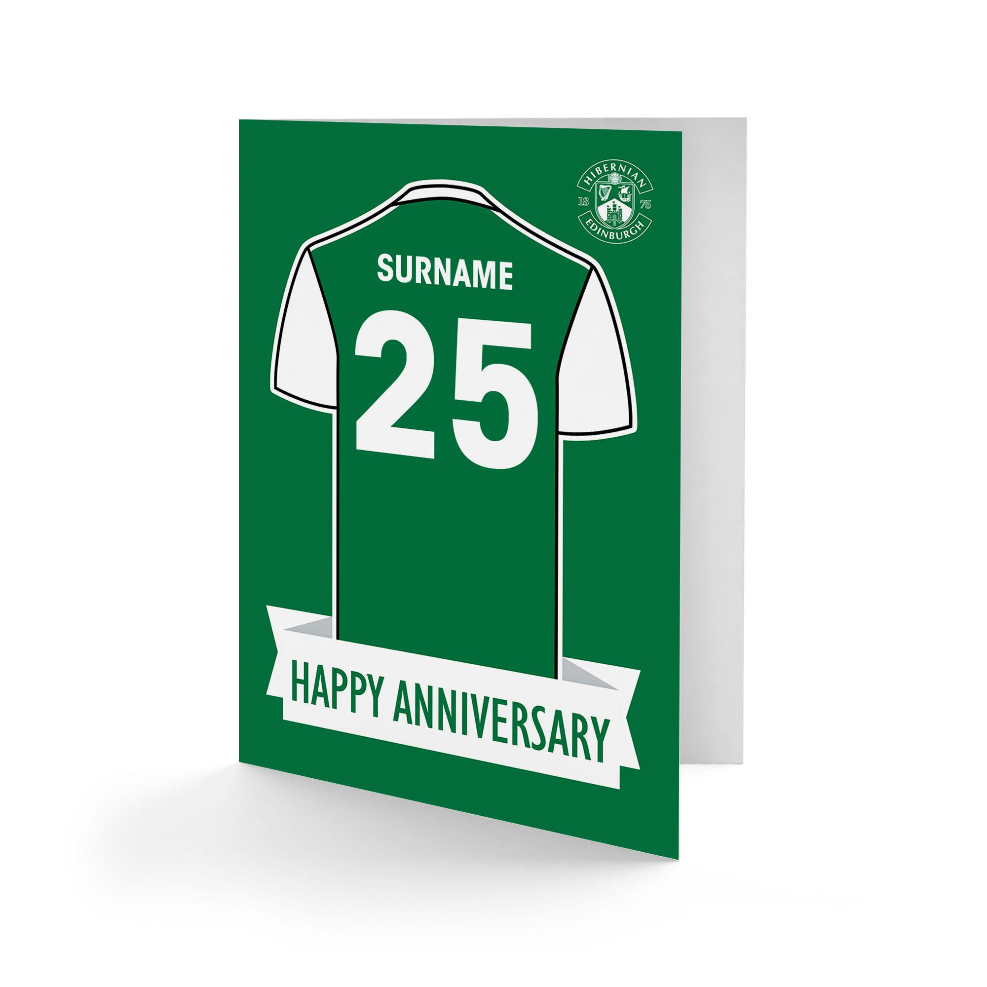 Hibernian FC Shirt Anniversary Card