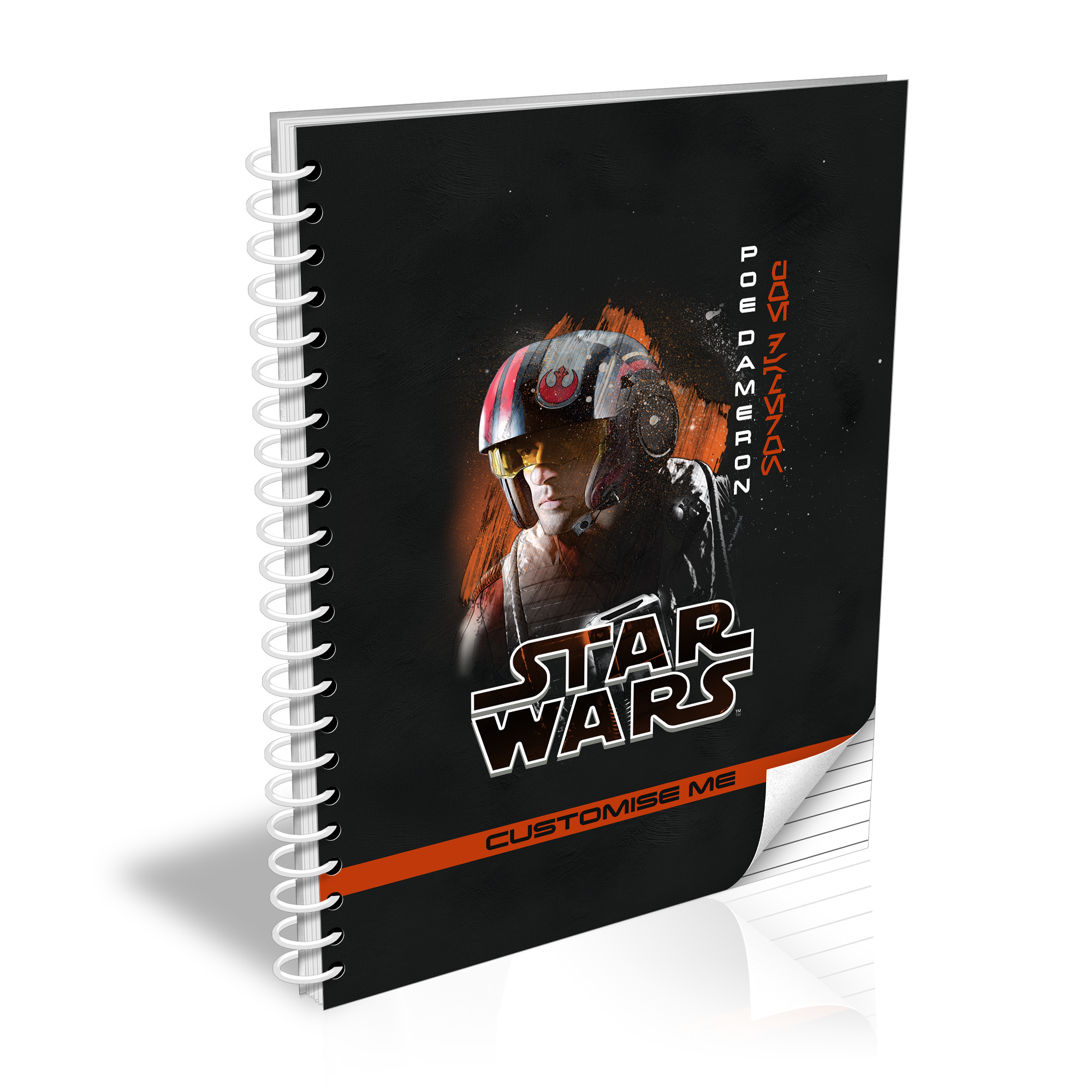 Star Wars Poe Dameron Last Jedi Spray Paint A5 Notebook