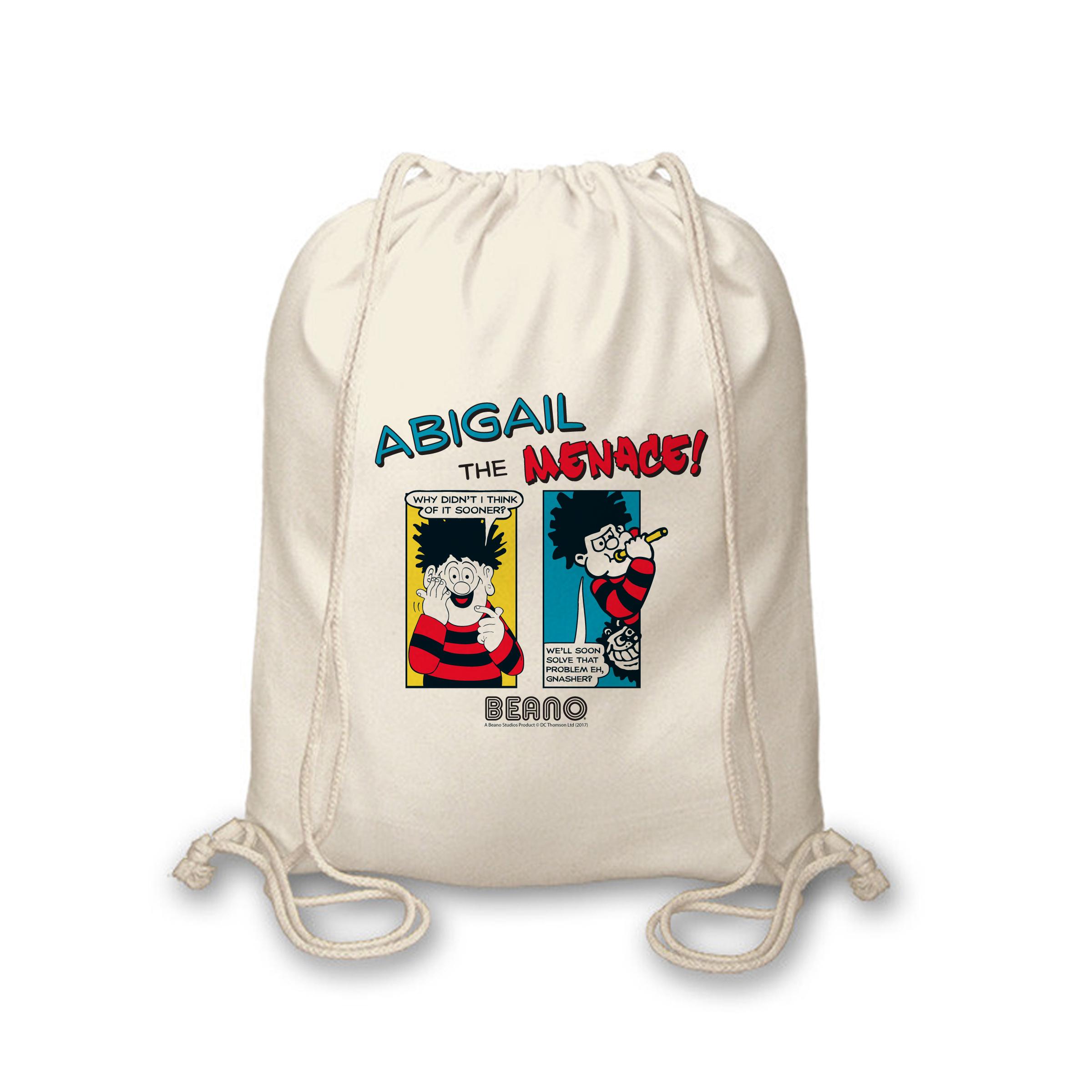 Beano Classic Comic Strip Problem Solved Drawstring Bag