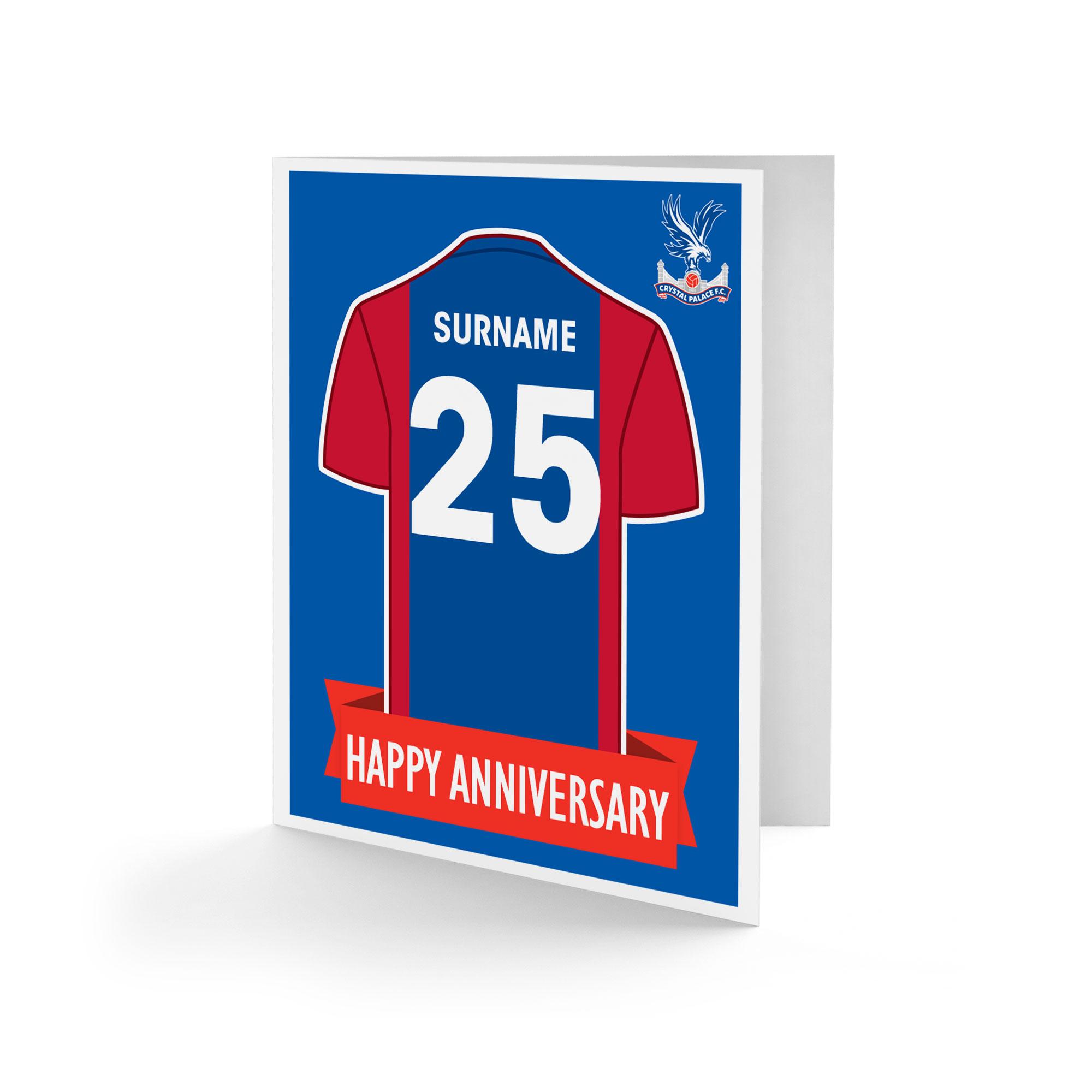 Crystal Palace FC Shirt Anniversary Card