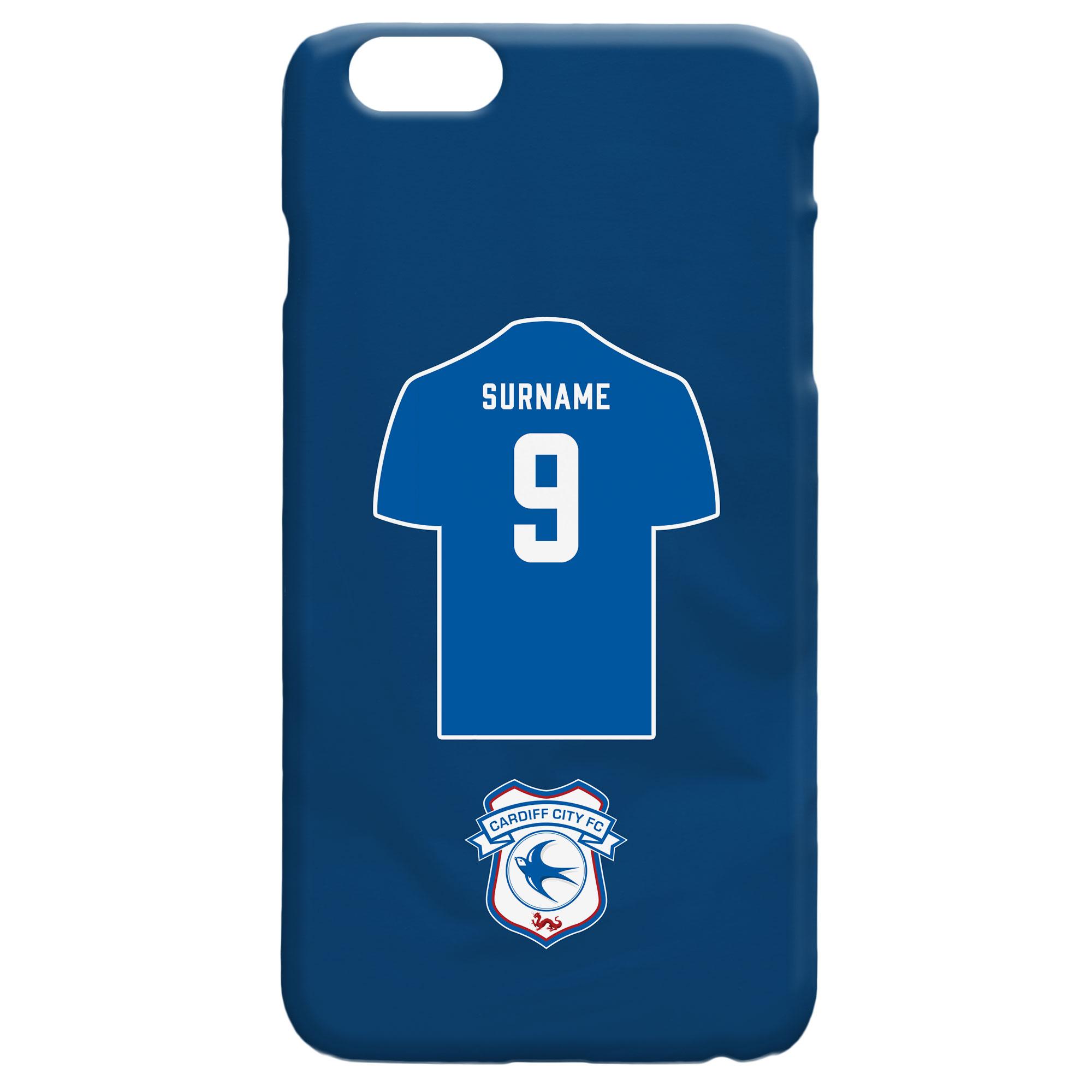 Cardiff City FC Shirt Hard Back Phone Case