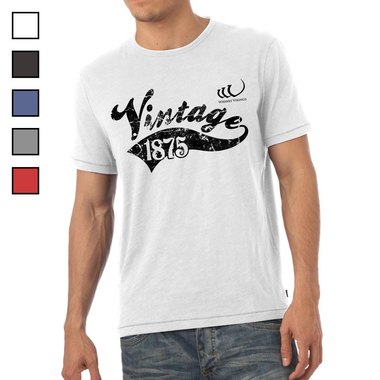 Widnes Vikings Mens Vintage T-Shirt