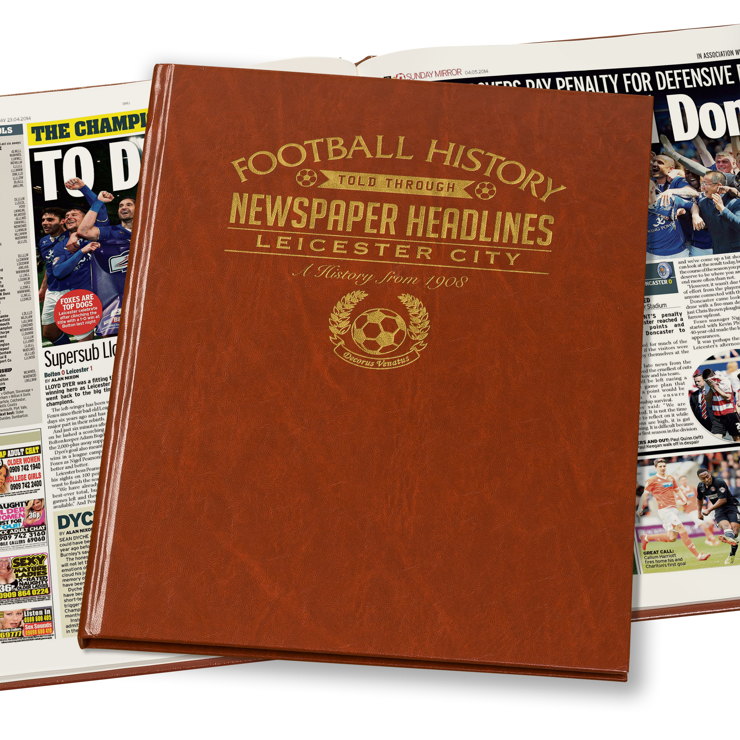 Leicester City Newspaper Book (Colour Pages)