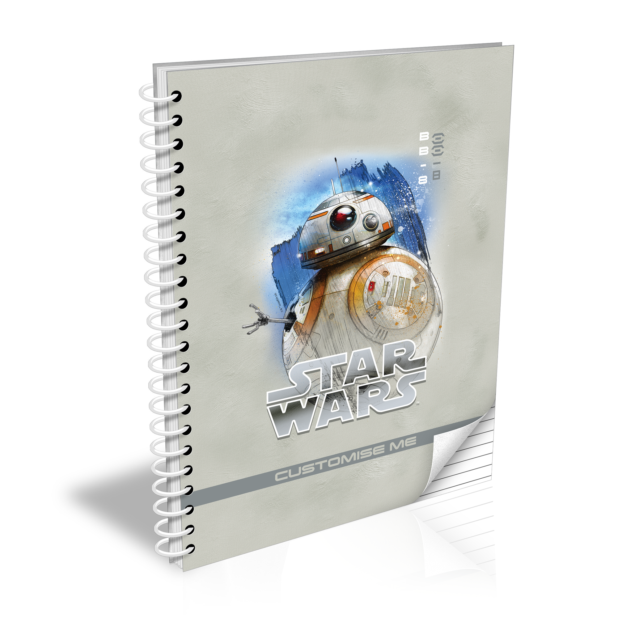 Star Wars BB-8 Last Jedi Spray Paint A5 Notebook
