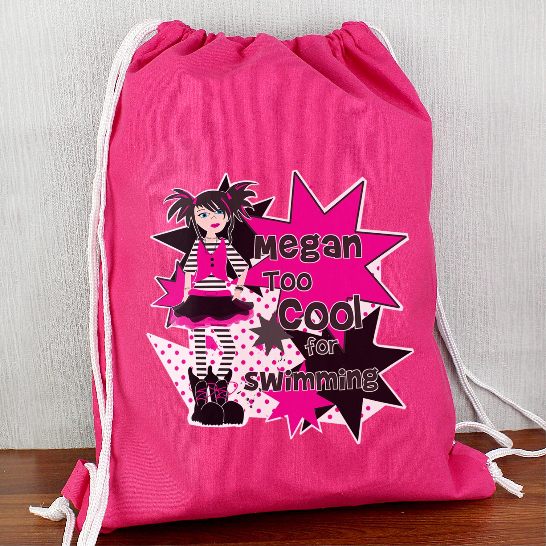 Personalised Girls Too Cool Kit Bag