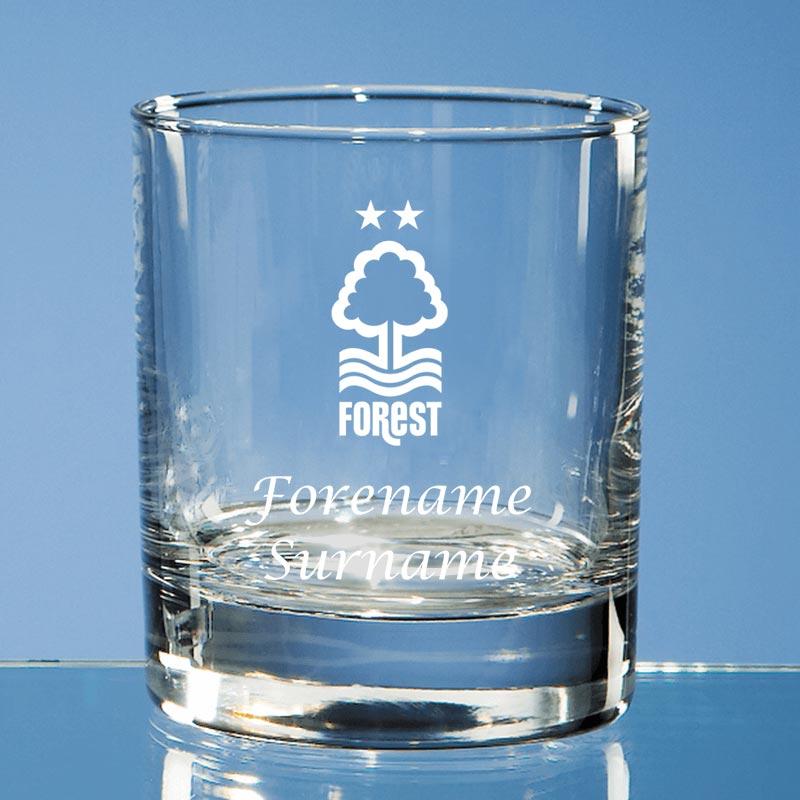 Nottingham Forest FC Crest Old Fashioned Whisky Tumbler