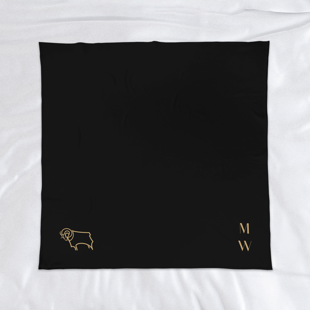 Derby County Initials Fleece Blanket