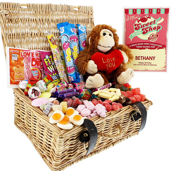 Valentine Sweet Hamper with Cuddly Toy