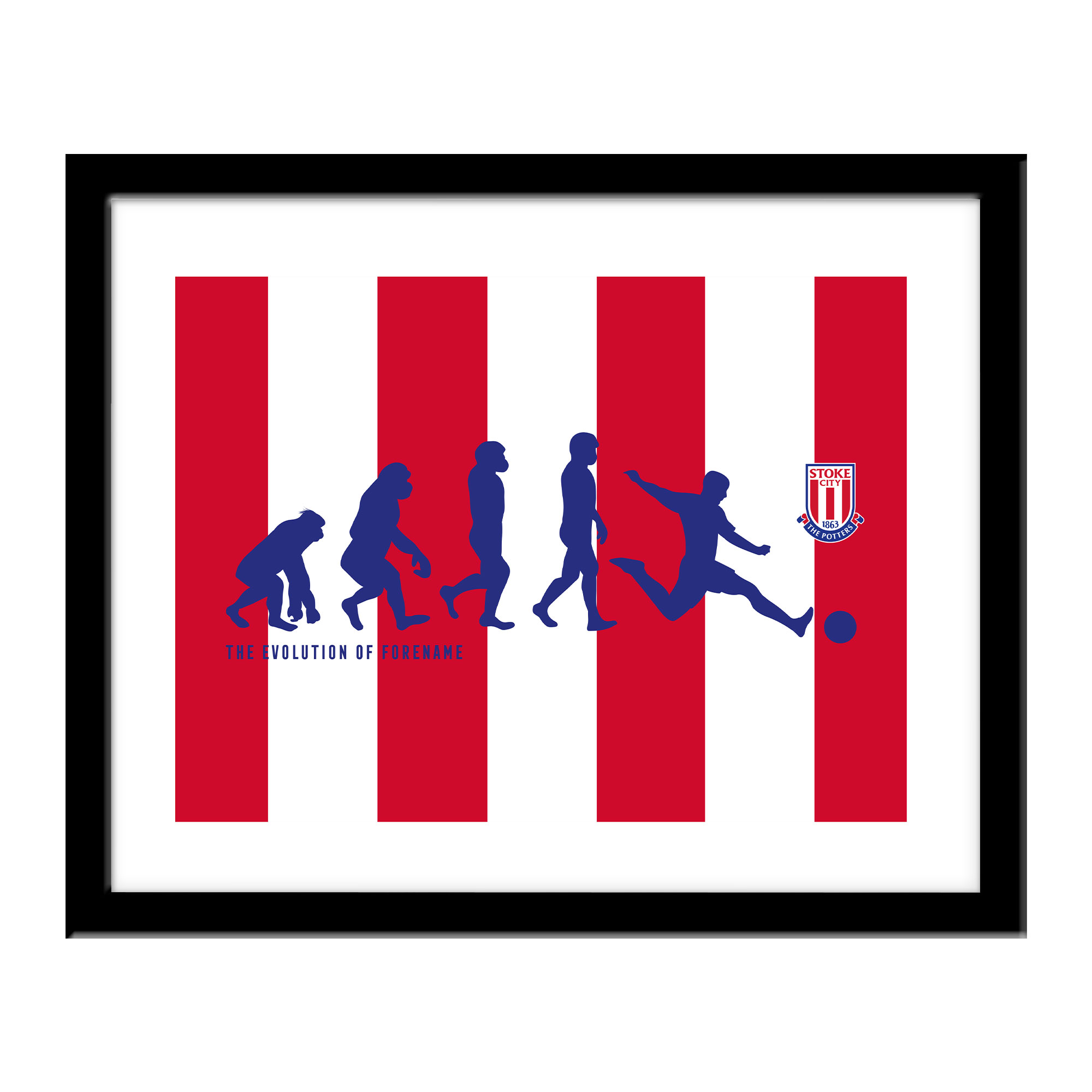 Stoke City FC Evolution Print