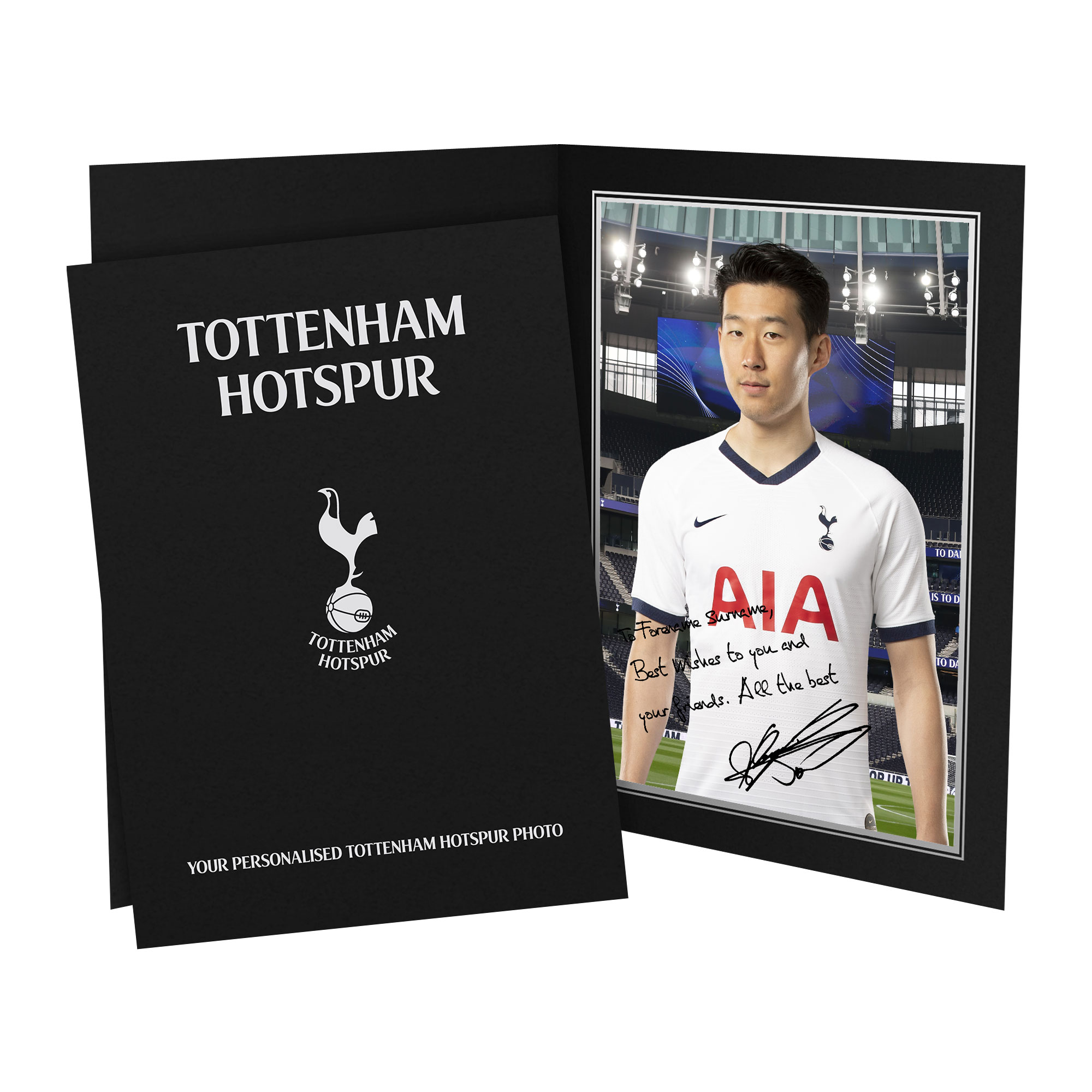 Tottenham Hotspur Son Autograph Photo Folder