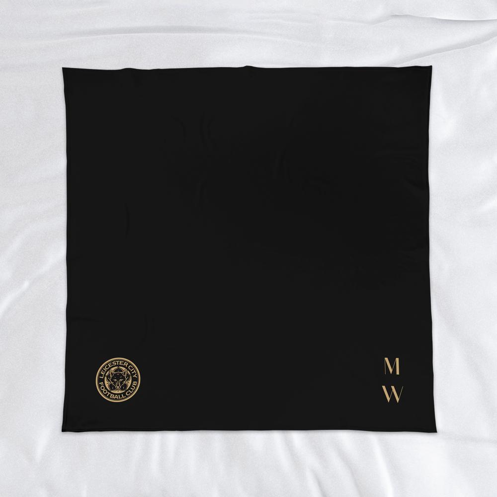 Leicester City FC Initials Fleece Blanket